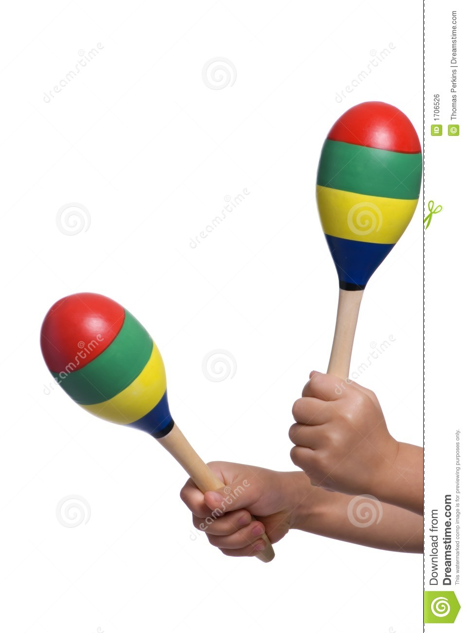 Playing Maracas 2 Royalty Free Stock Image Image 1706526
