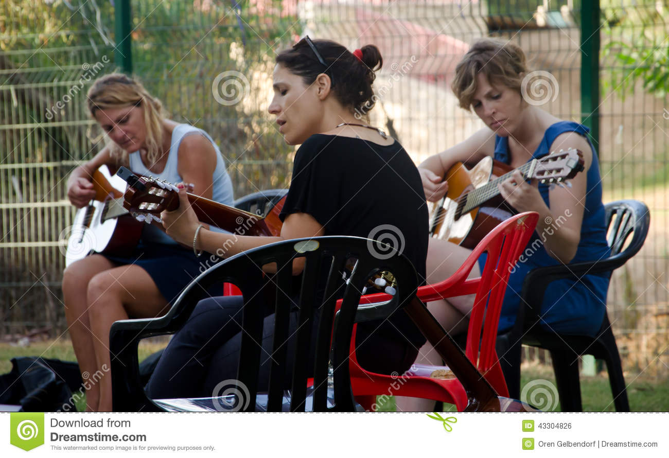 A group of musicians who play together - answers.com