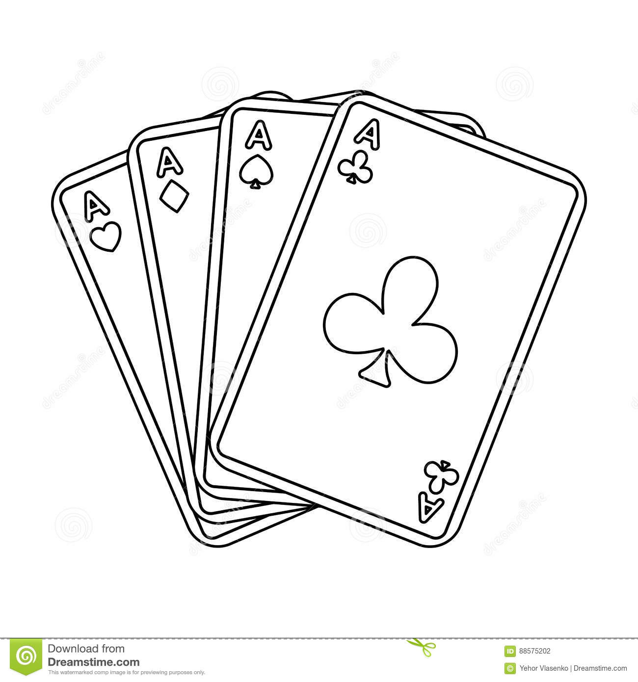 playing cards icon  outline style vector illustration Drug Addiction Gambling Addiction Quotes