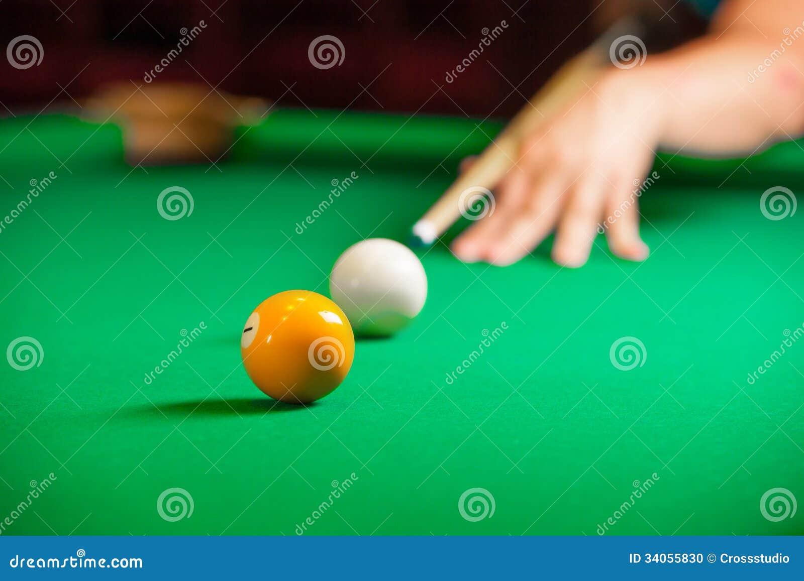 Playing Pool Stock Photo Image 34055830