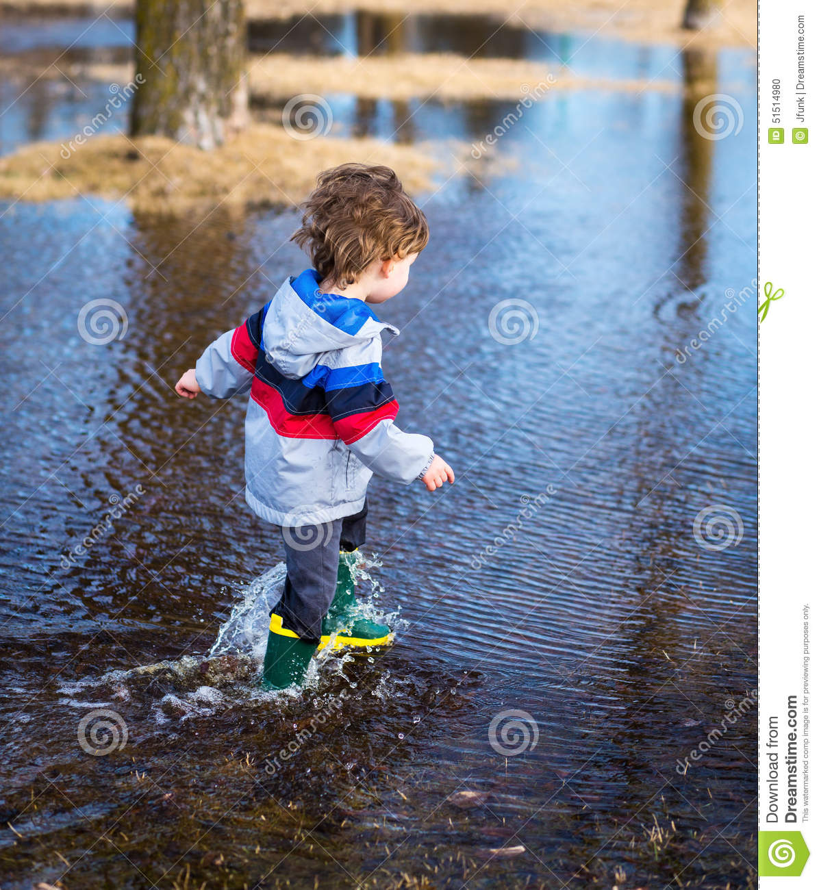 Playing In Puddles Stock Photo Image 51514980
