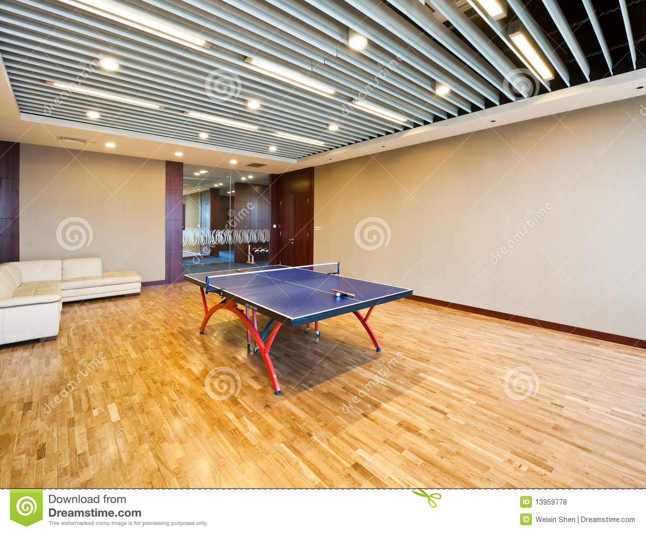Playing Room For Table Tennis Stock Photo Image of pingpong ping