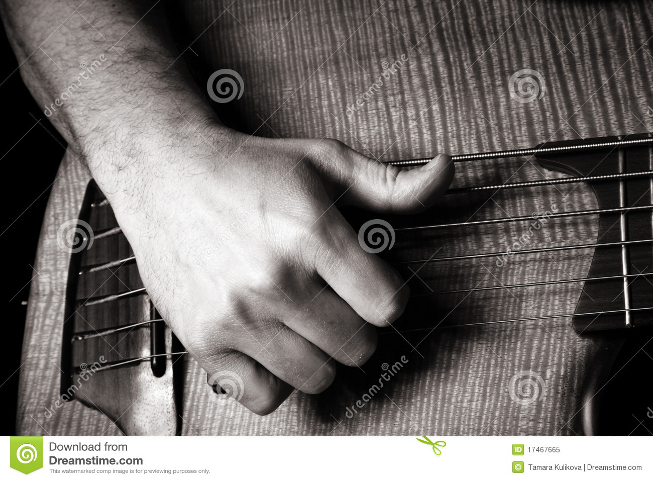 playing six string electric bass guitar stock image image of skill hand 17467665. Black Bedroom Furniture Sets. Home Design Ideas