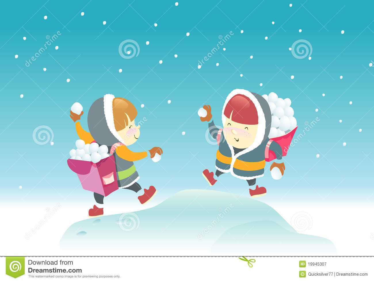 Playing Snowball Royalty Free Stock Photography Image 19945307