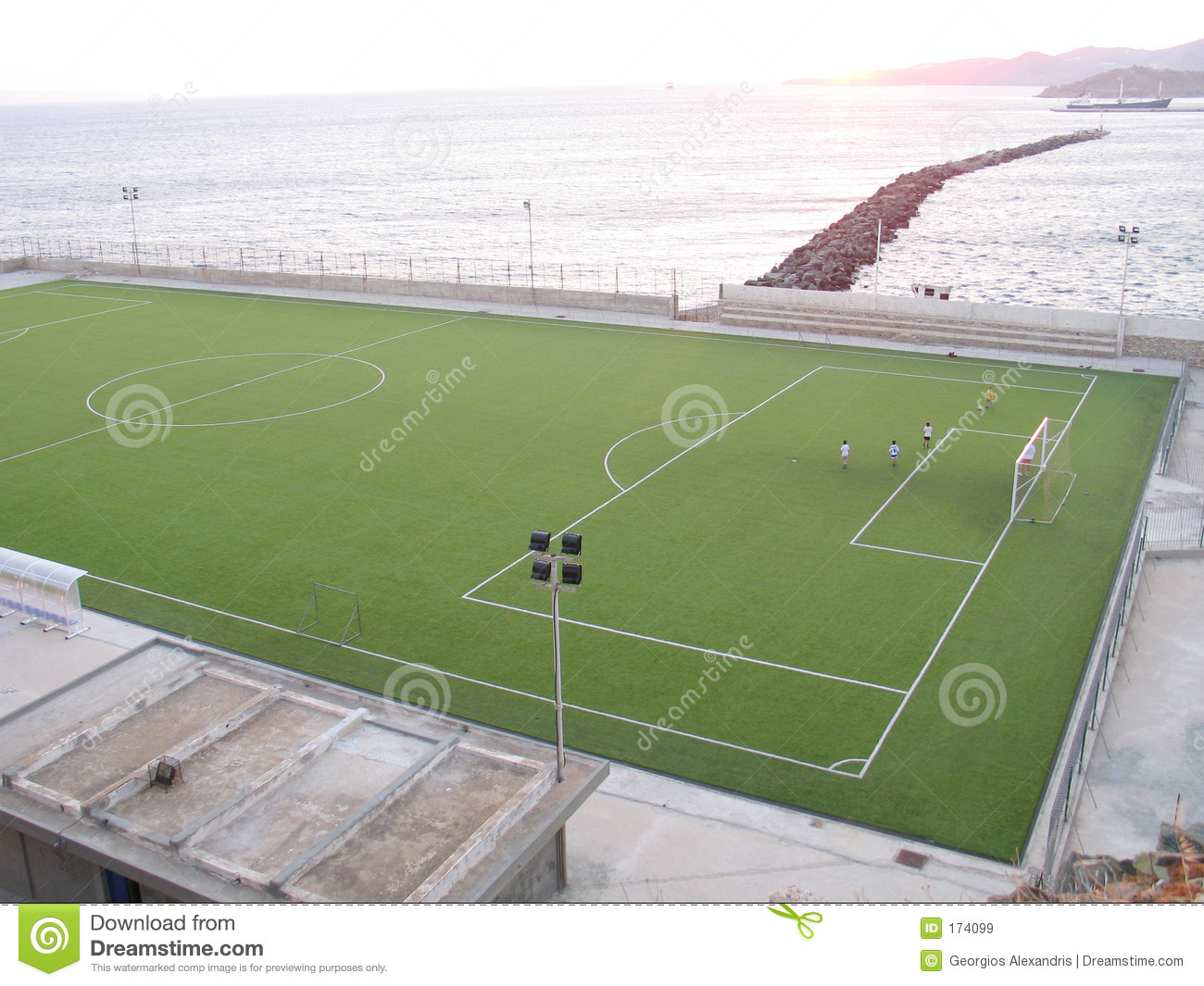 Playing Soccer by the Sea