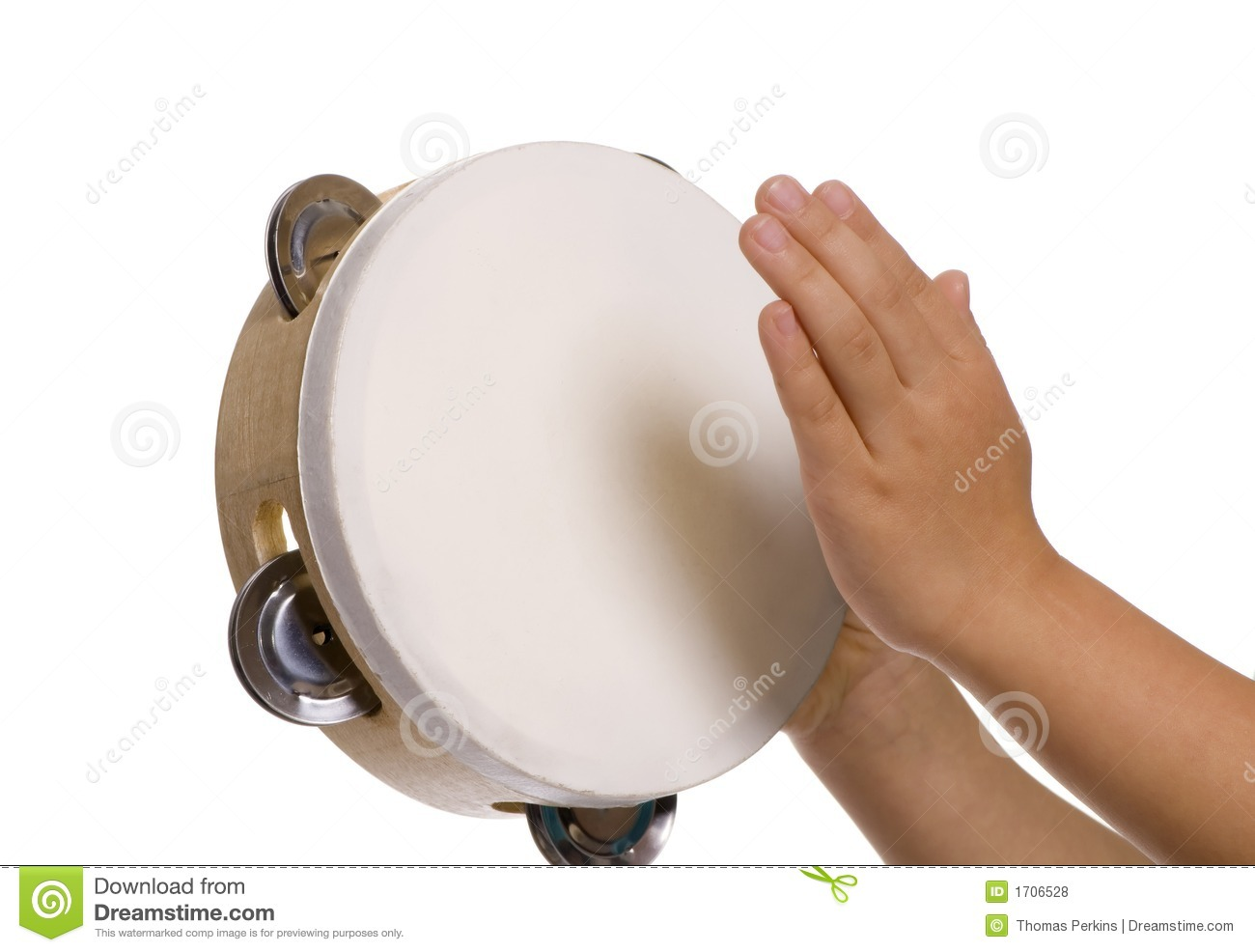 Playing The Tambourine Royalty Free Stock Photos - Image: 1706528