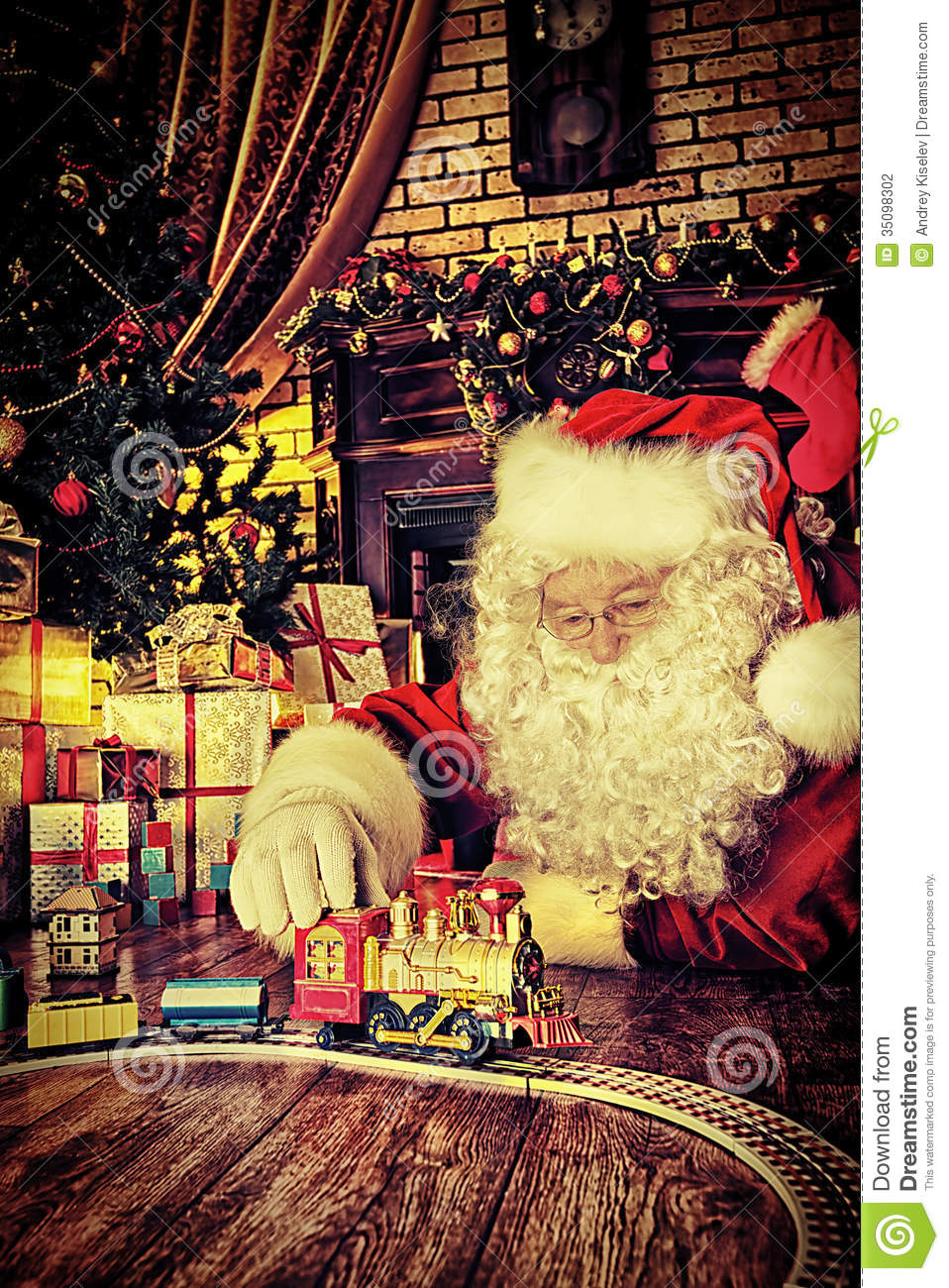 Toys Under Christmas Tree : Playing toys stock photography image
