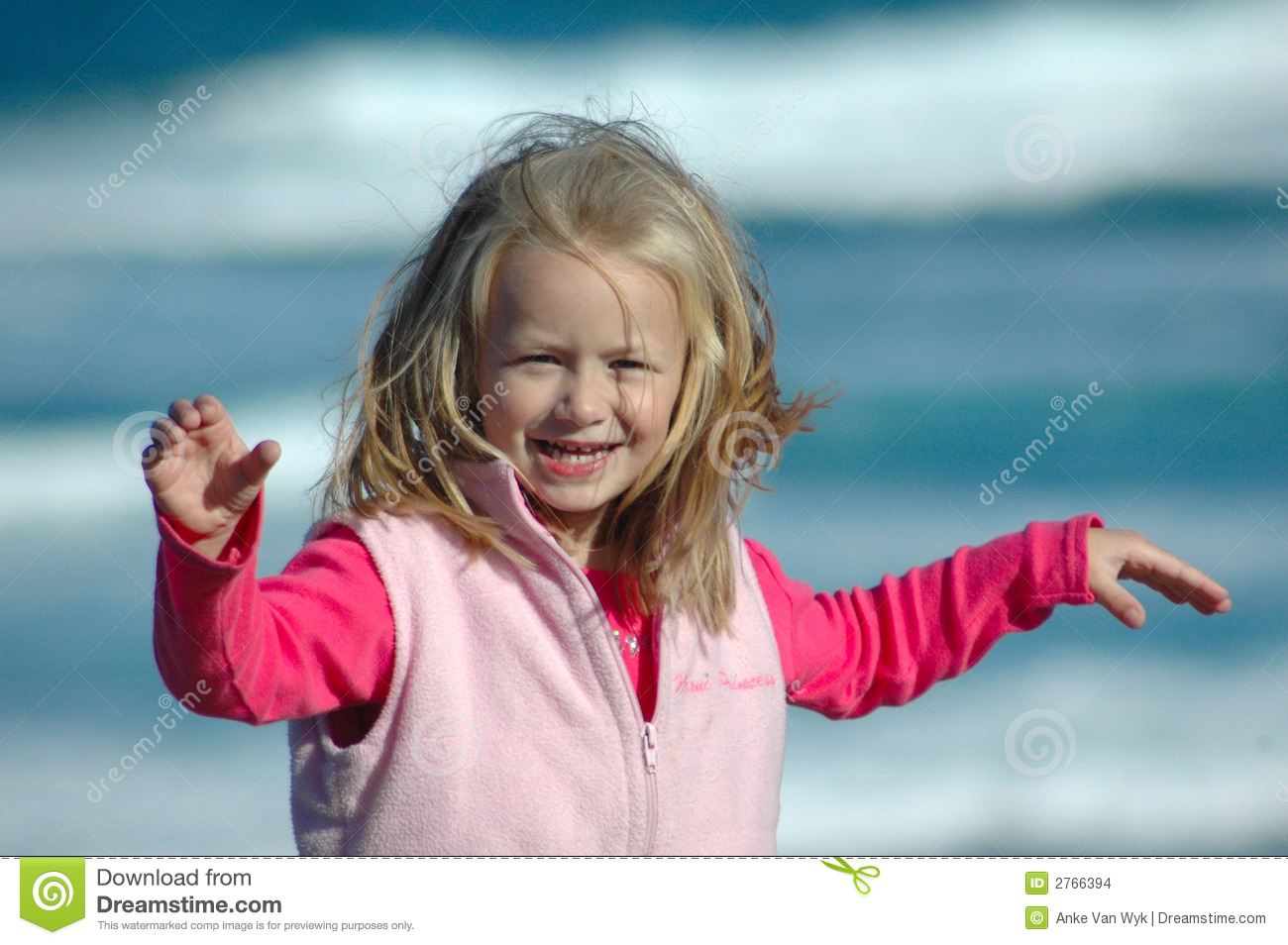 Download Playing in the wind stock photo. Image of cold, enjoy - 2766394
