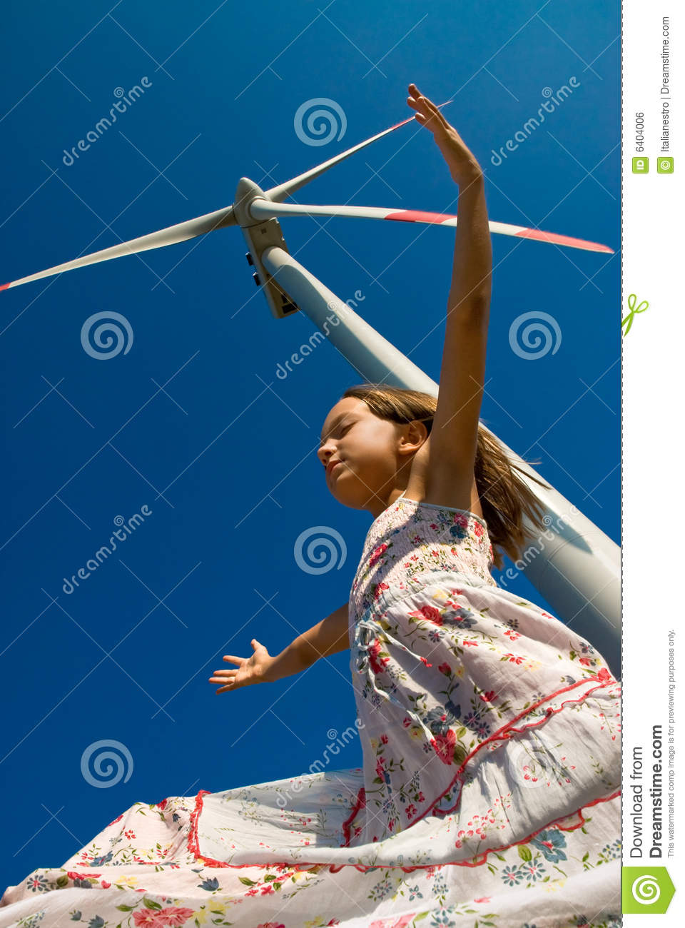 Download Playing in the wind stock photo. Image of clean, electrical - 6404006
