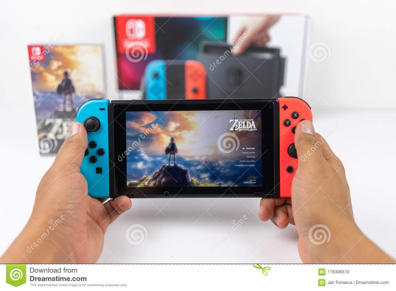 Playing Zelda Breath Of The Wild In Nintendo Switch