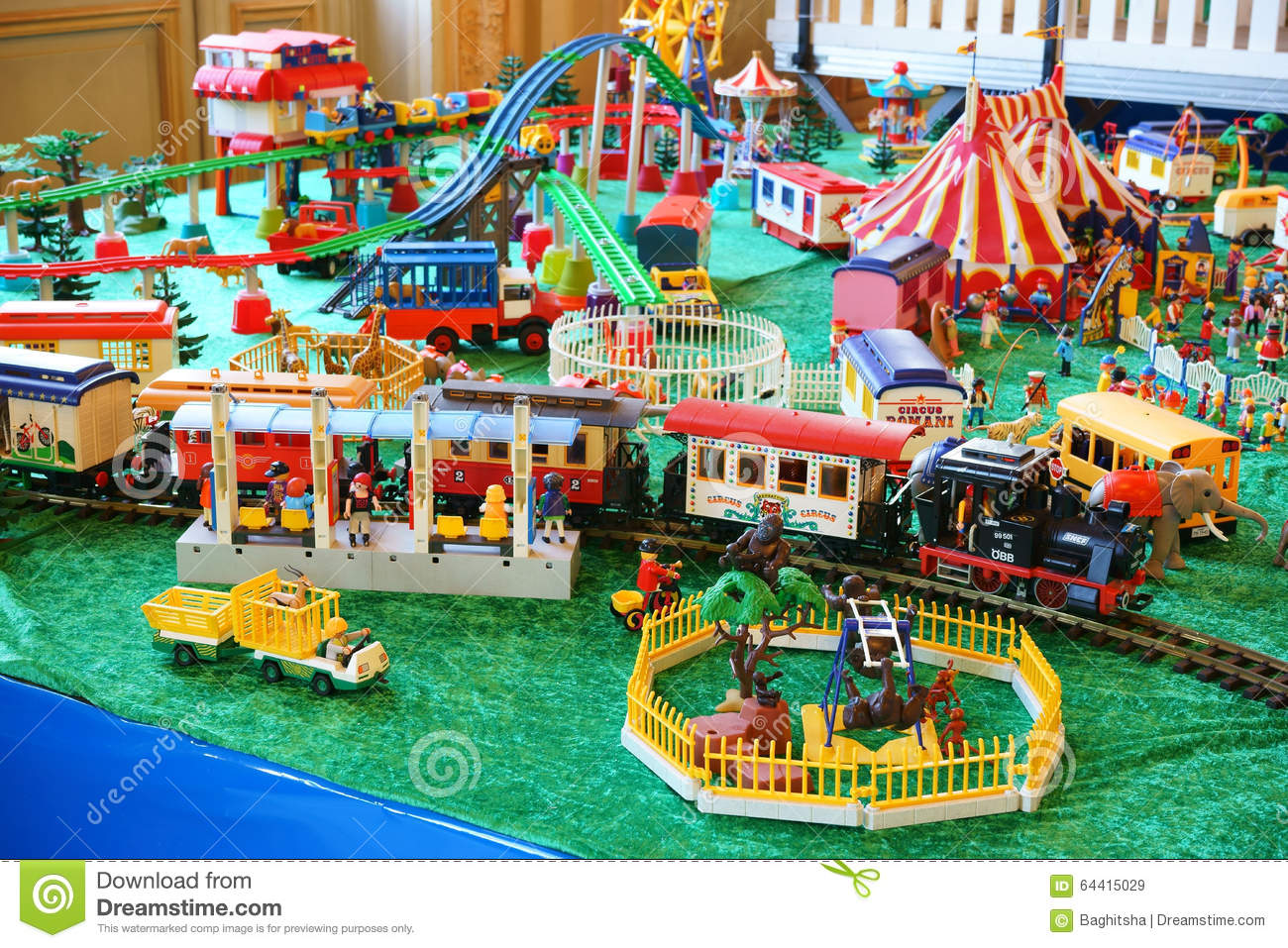 Playmobil collection zoo train station editorial stock - Train playmobil ...