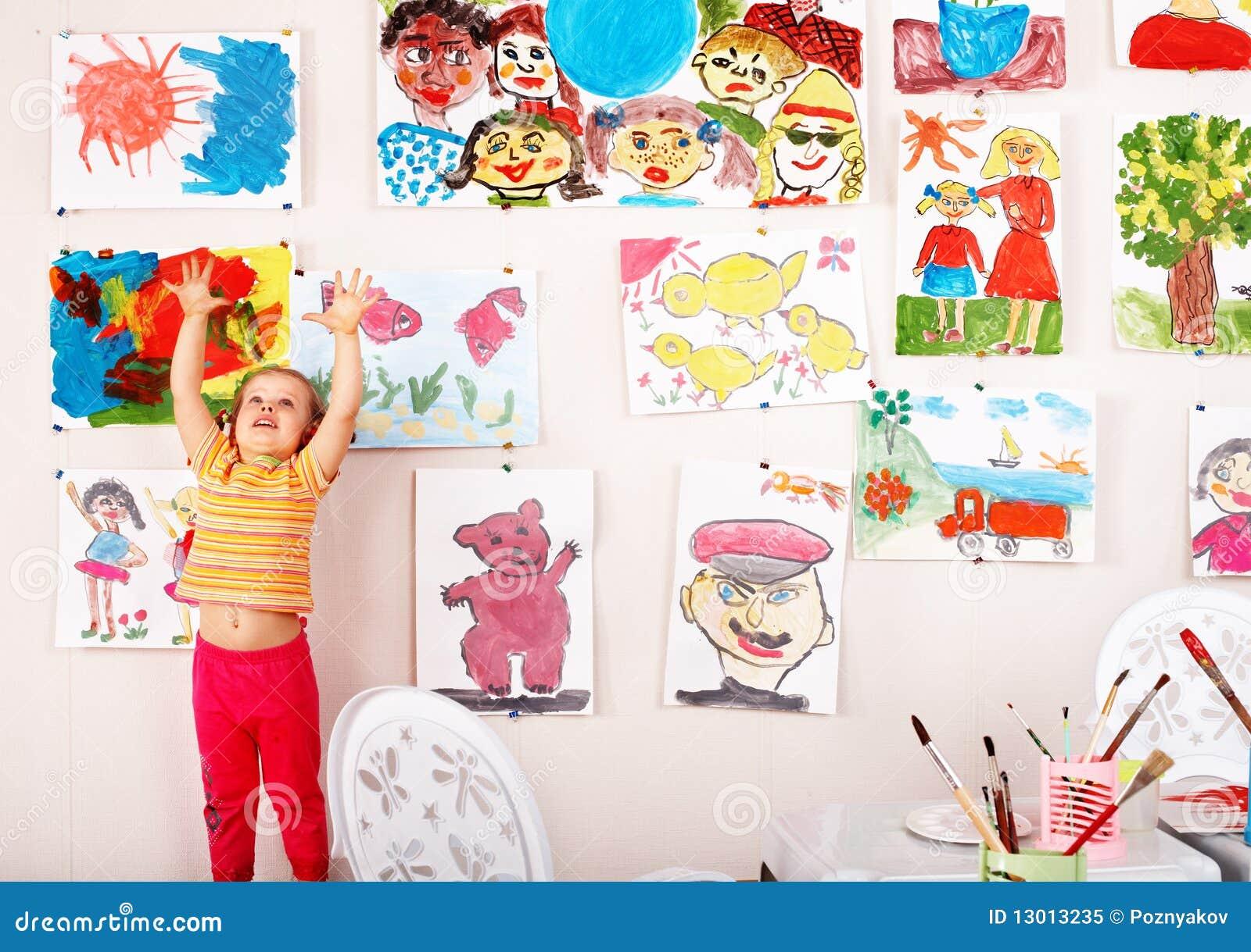 Playroom för borstebarnbild