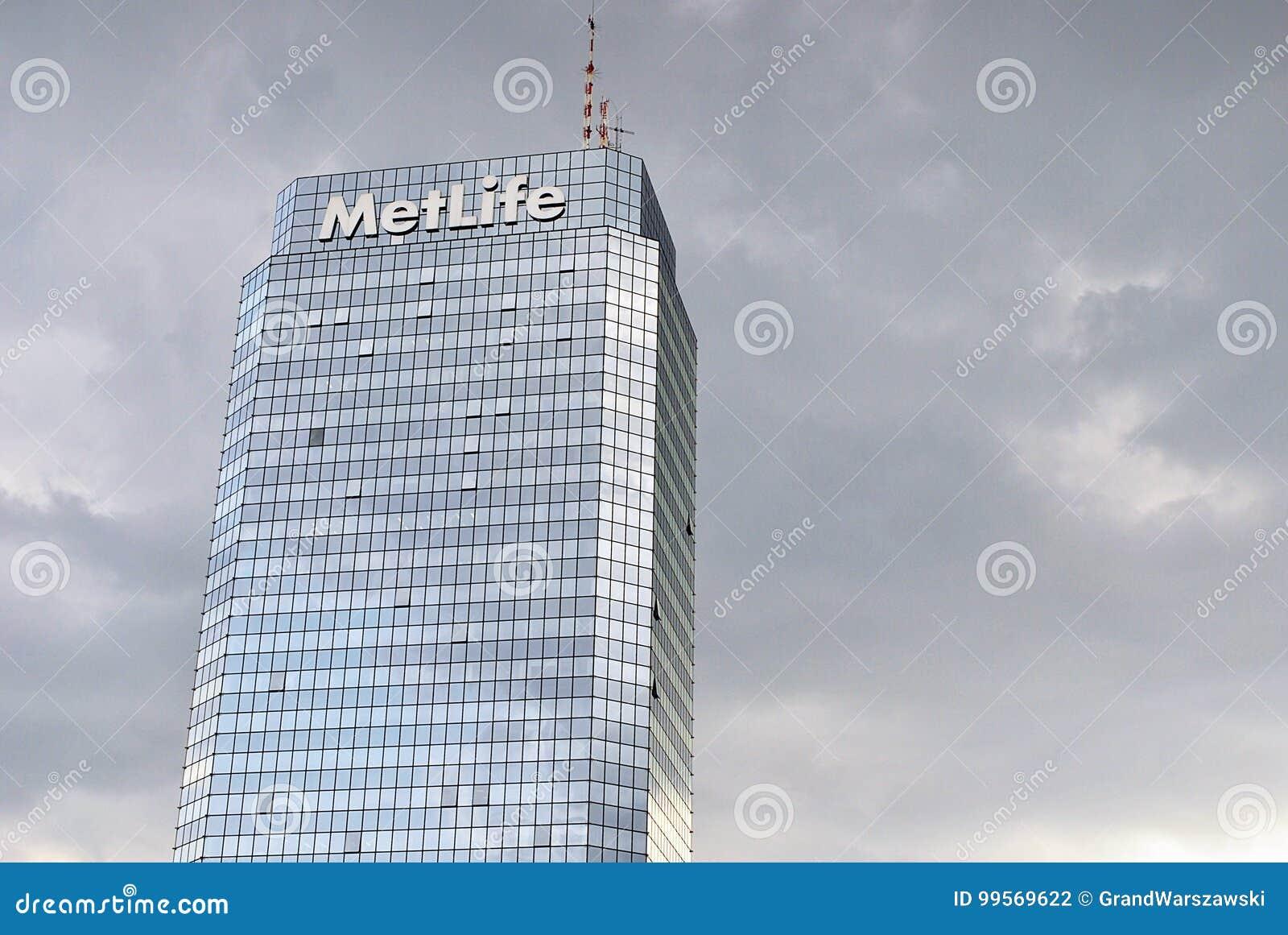Plaza bleue moderne de tour d immeuble de bureaux photographie