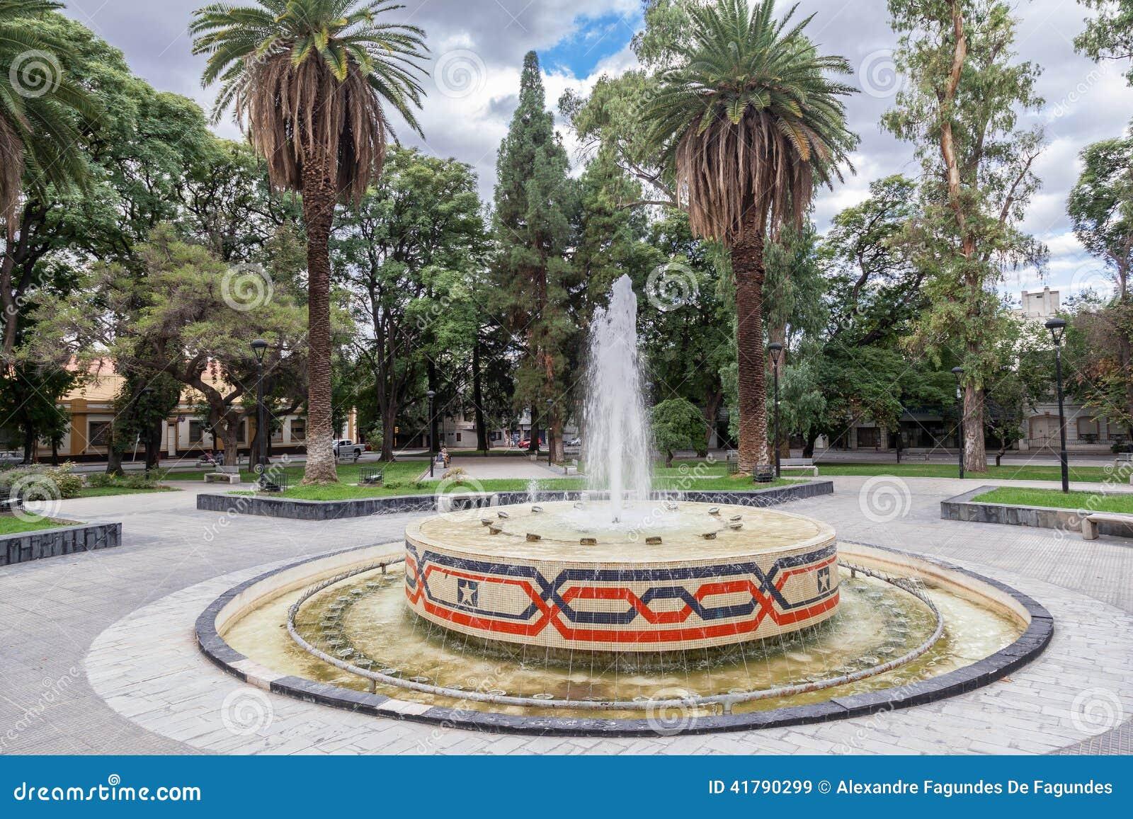 Plaza Chile Mendoza Argentina Stock Image Image Of Tile