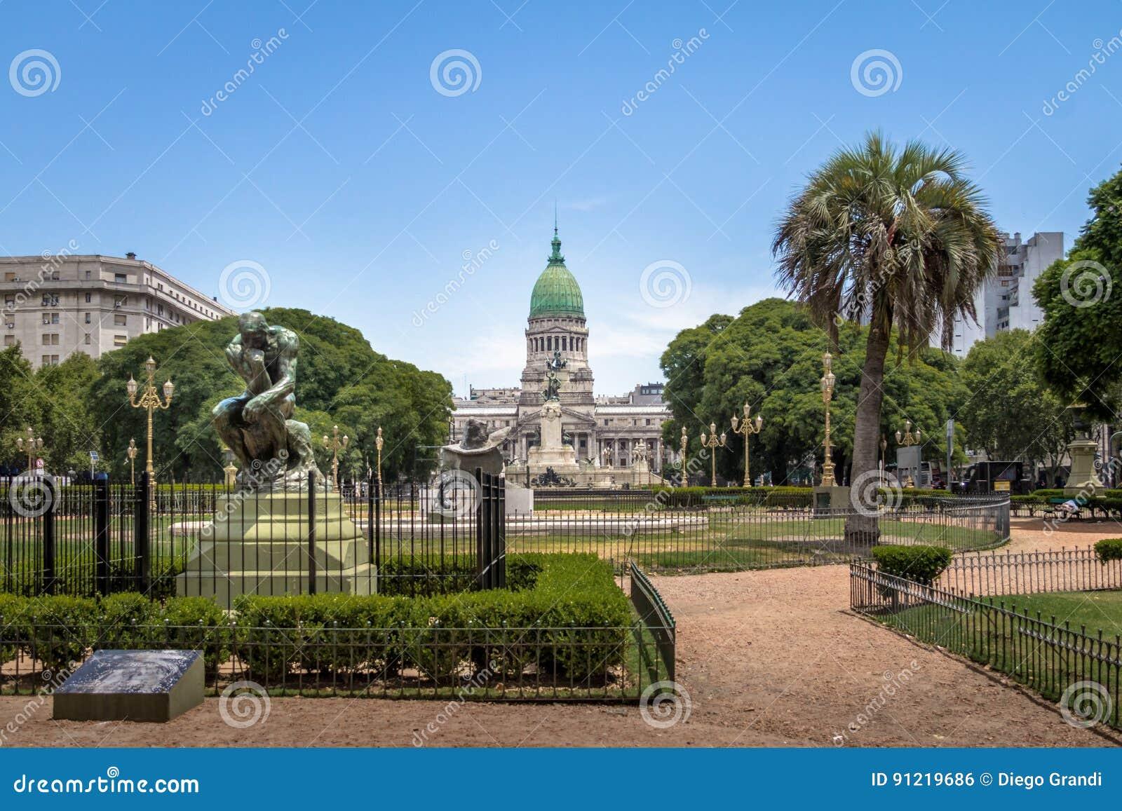Plaza Congreso och rådsmöte - Buenos Aires, Argentina