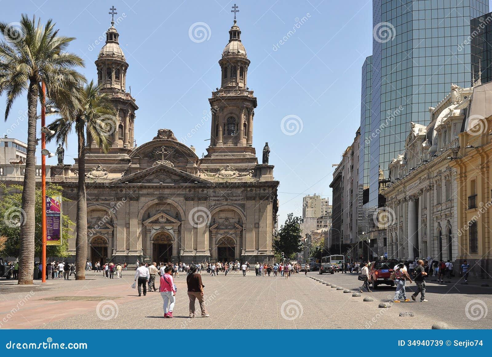 plaza de armas santiago de chile editorial stock image image of catolic building 34940739. Black Bedroom Furniture Sets. Home Design Ideas