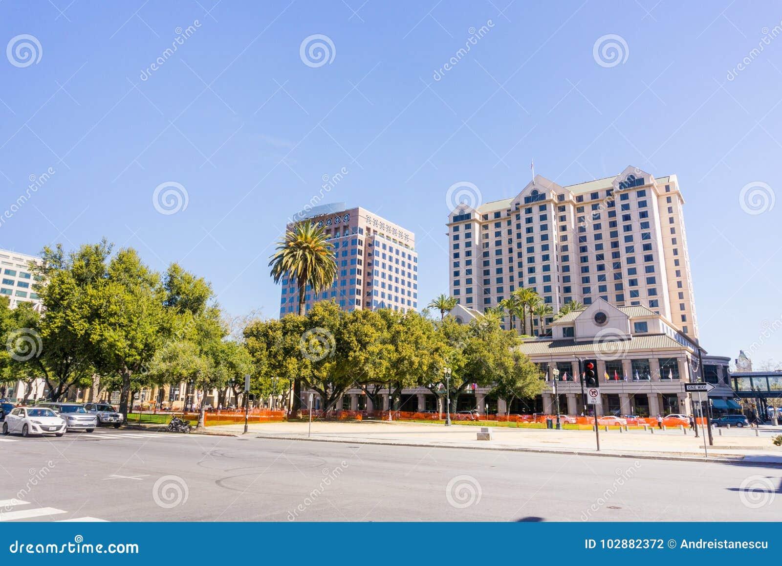 Plaza de Cesar Chavez, San Jose, Silicon Valley, Kalifornien