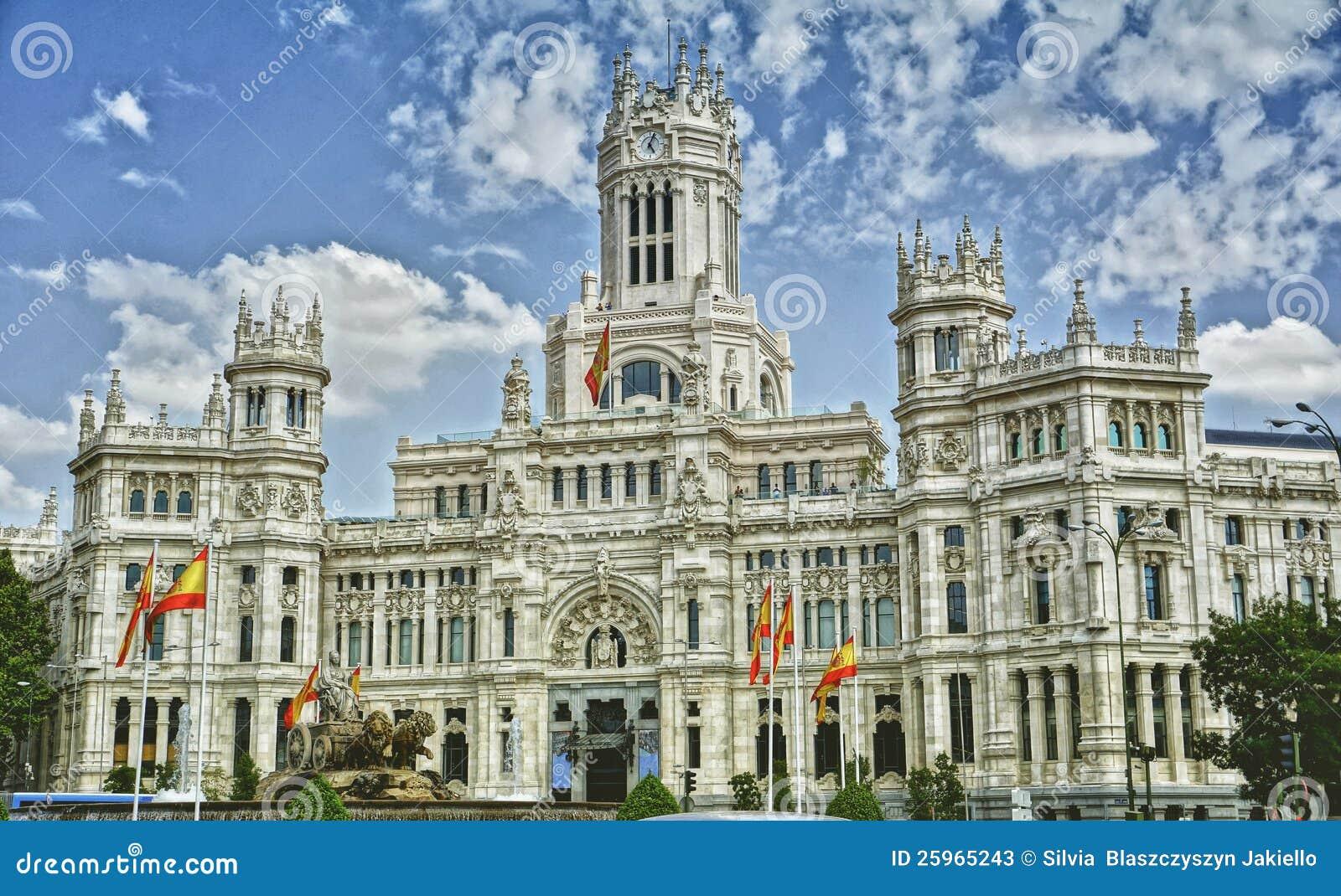 Plaza De Cibeles Madrid Spain Stock Image Image Of