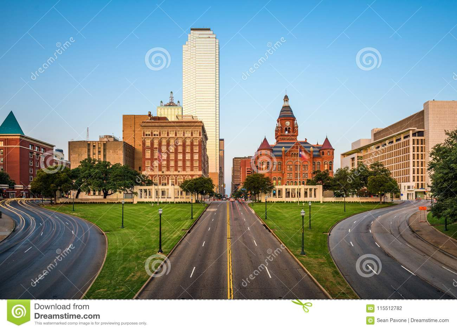Plaza de Dallas, le Texas, Etats-Unis Dealey