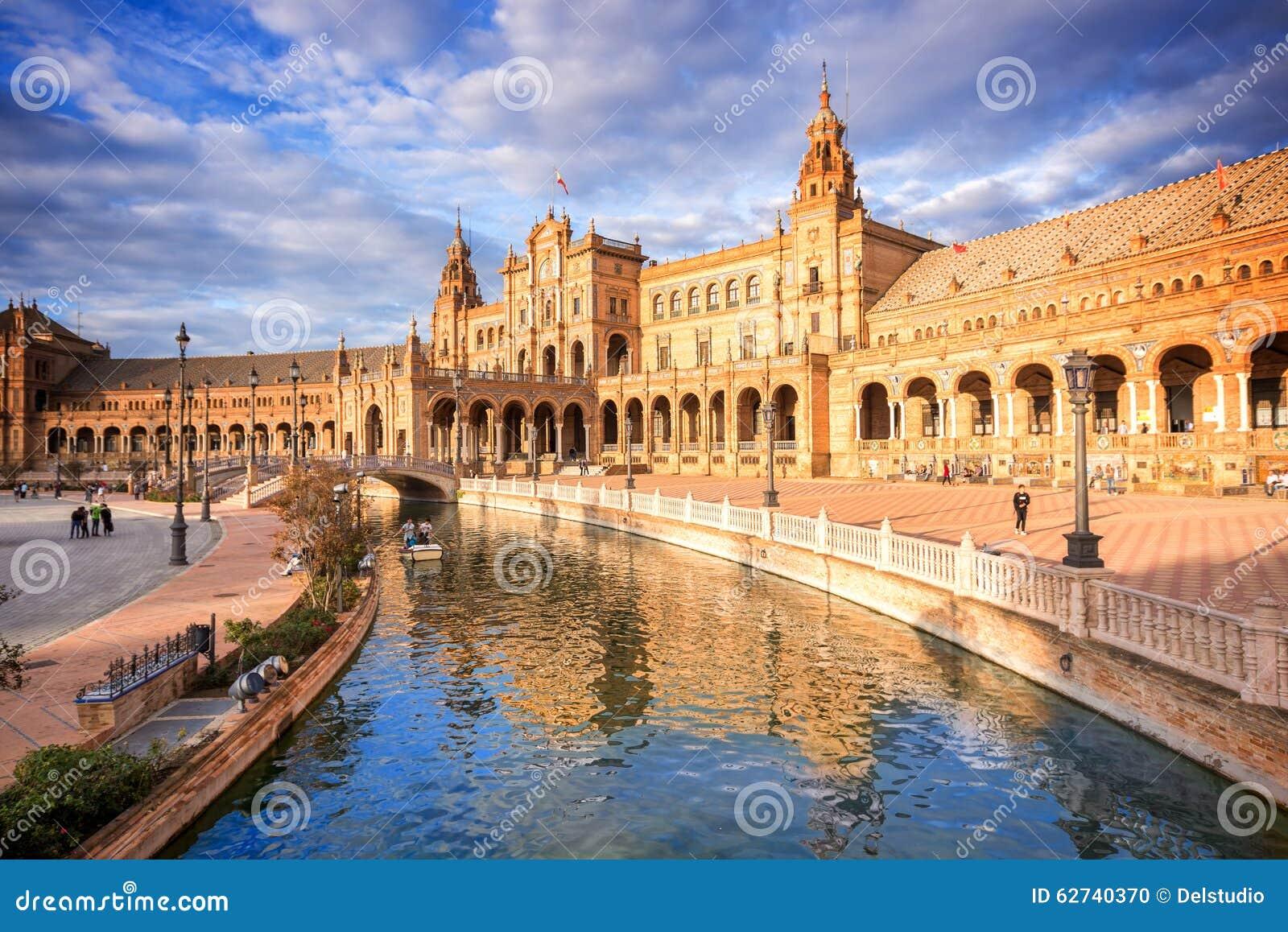 Plaza de Espana (place de l Espagne) en Séville, Espagne