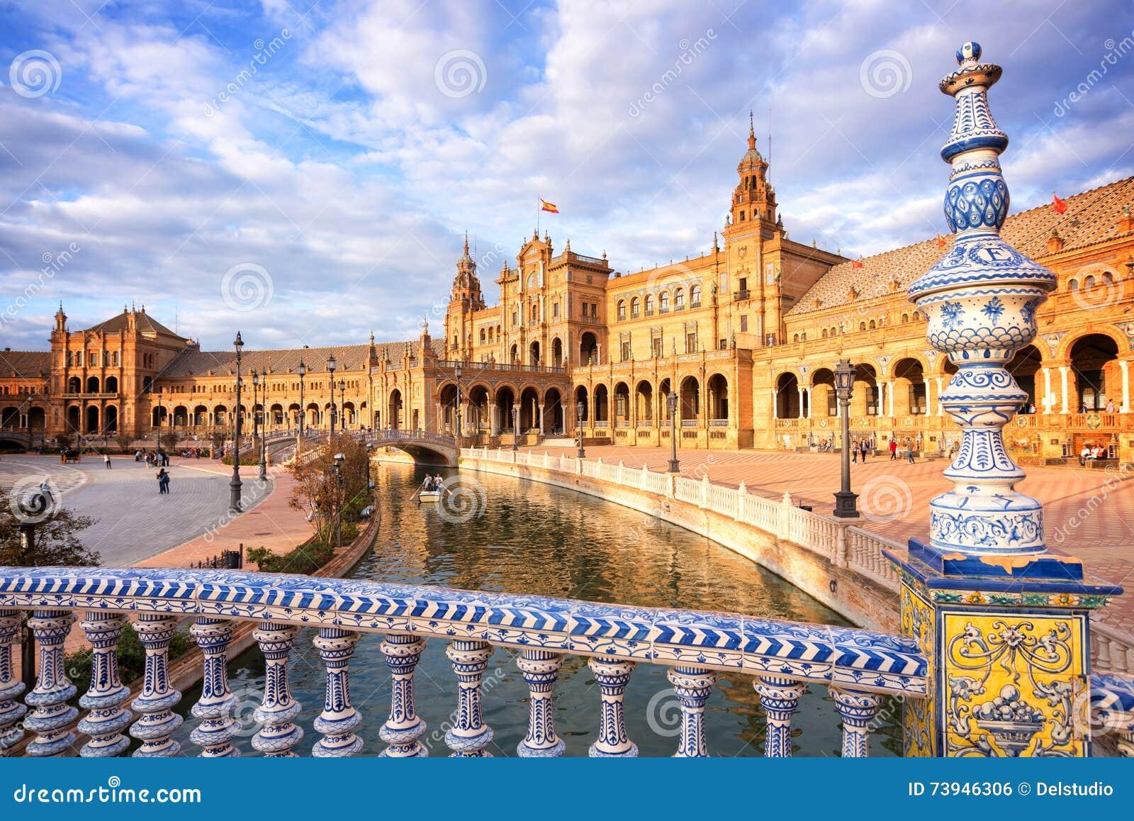 Plaza de Espana (quadrato della Spagna) in Siviglia, Andalusia
