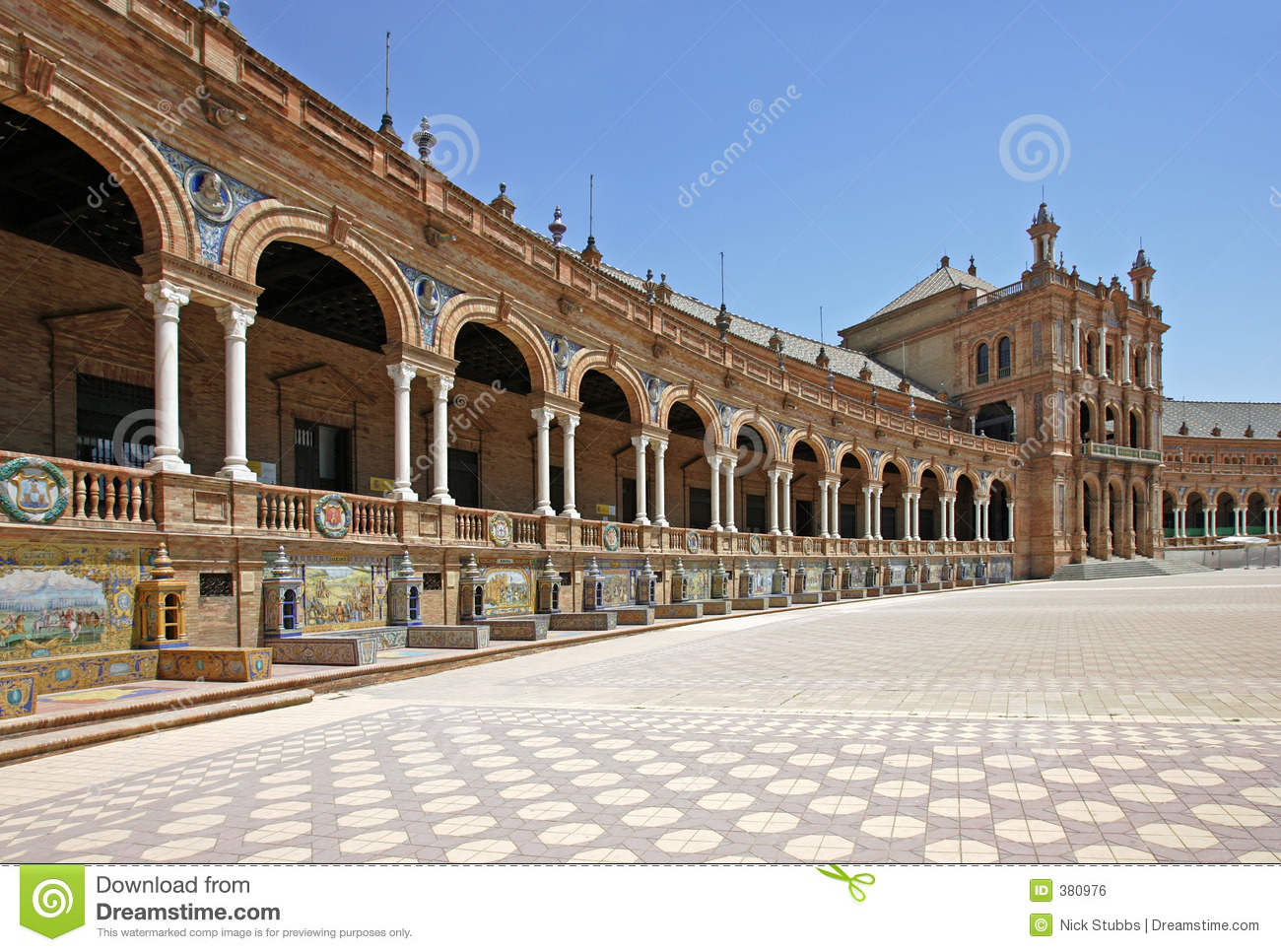 Plaza de espana in seville andalucia spain royalty free for Oficina turismo andalucia en madrid