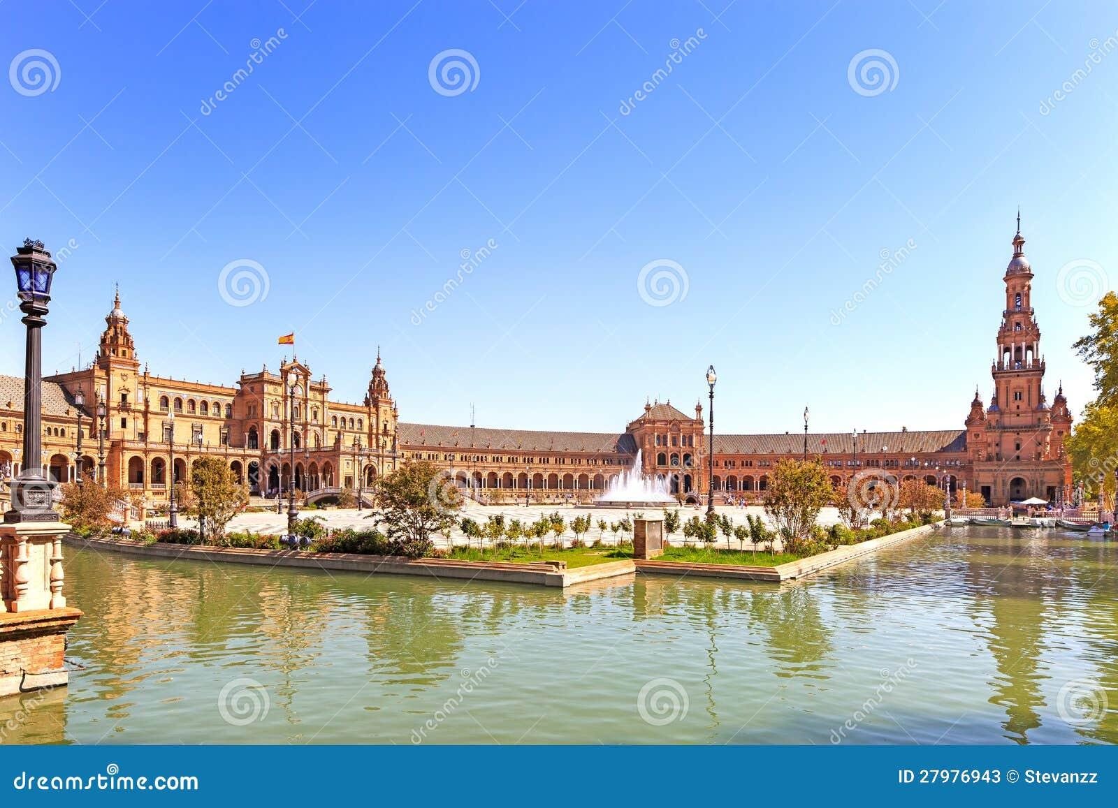 Plaza de espana Seville, Andalusia, Spanien, Europa