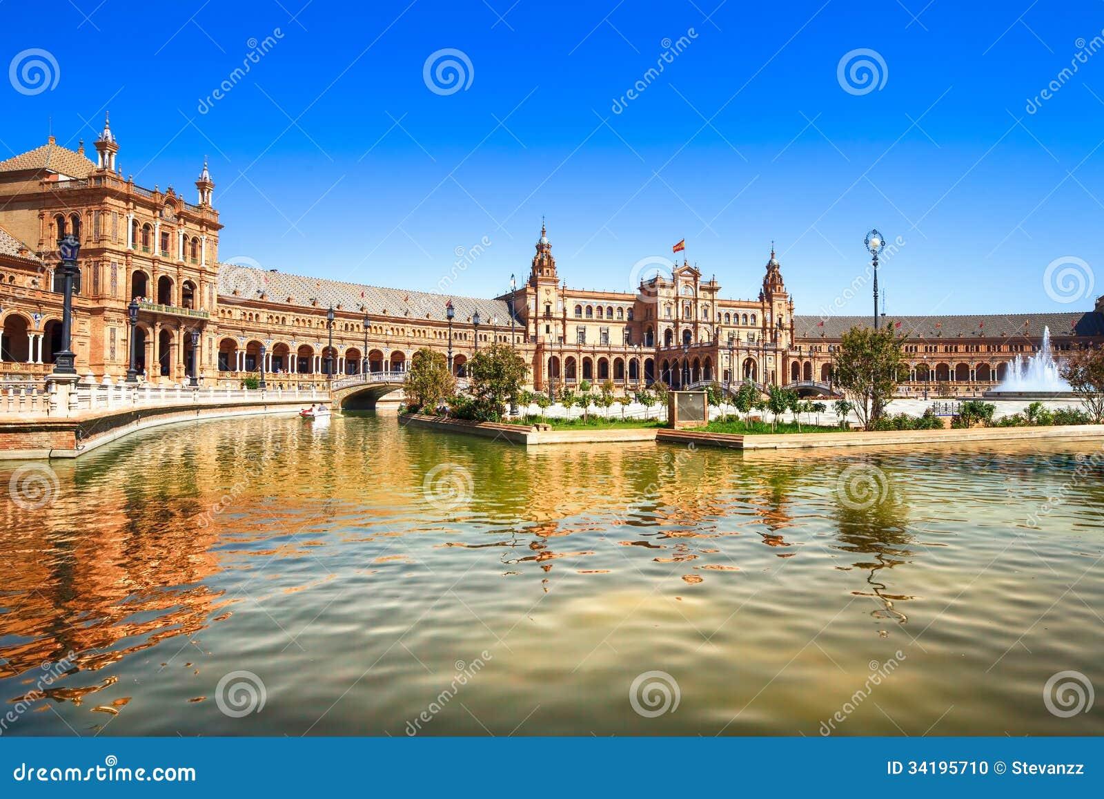 Plaza de espana Siviglia, Andalusia, Spagna, Europa