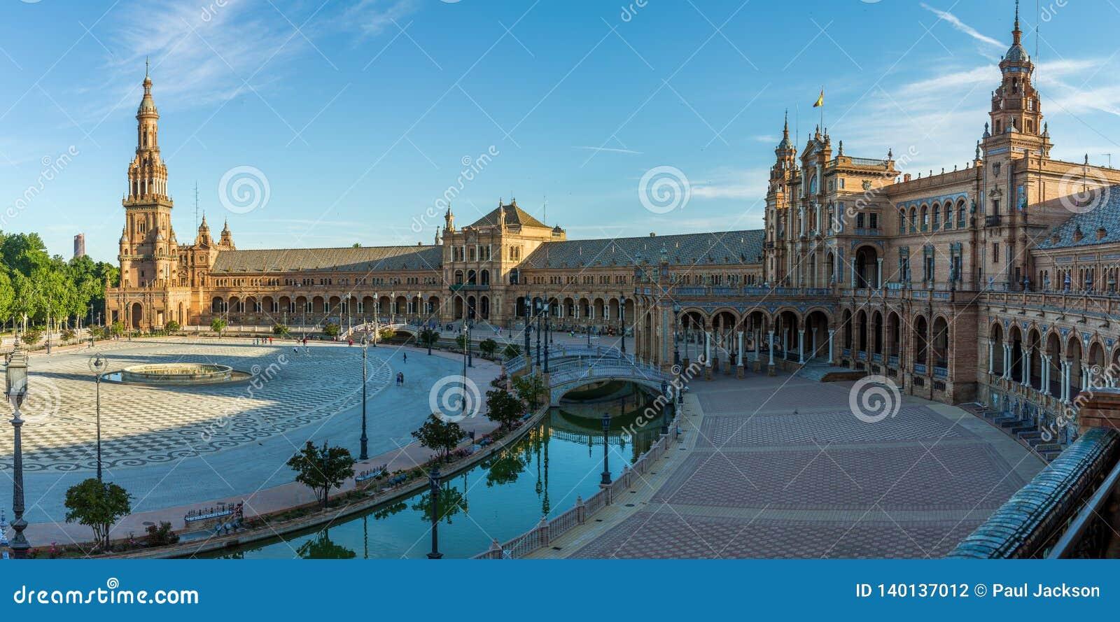 Plaza de Espana in Siviglia, Spagna