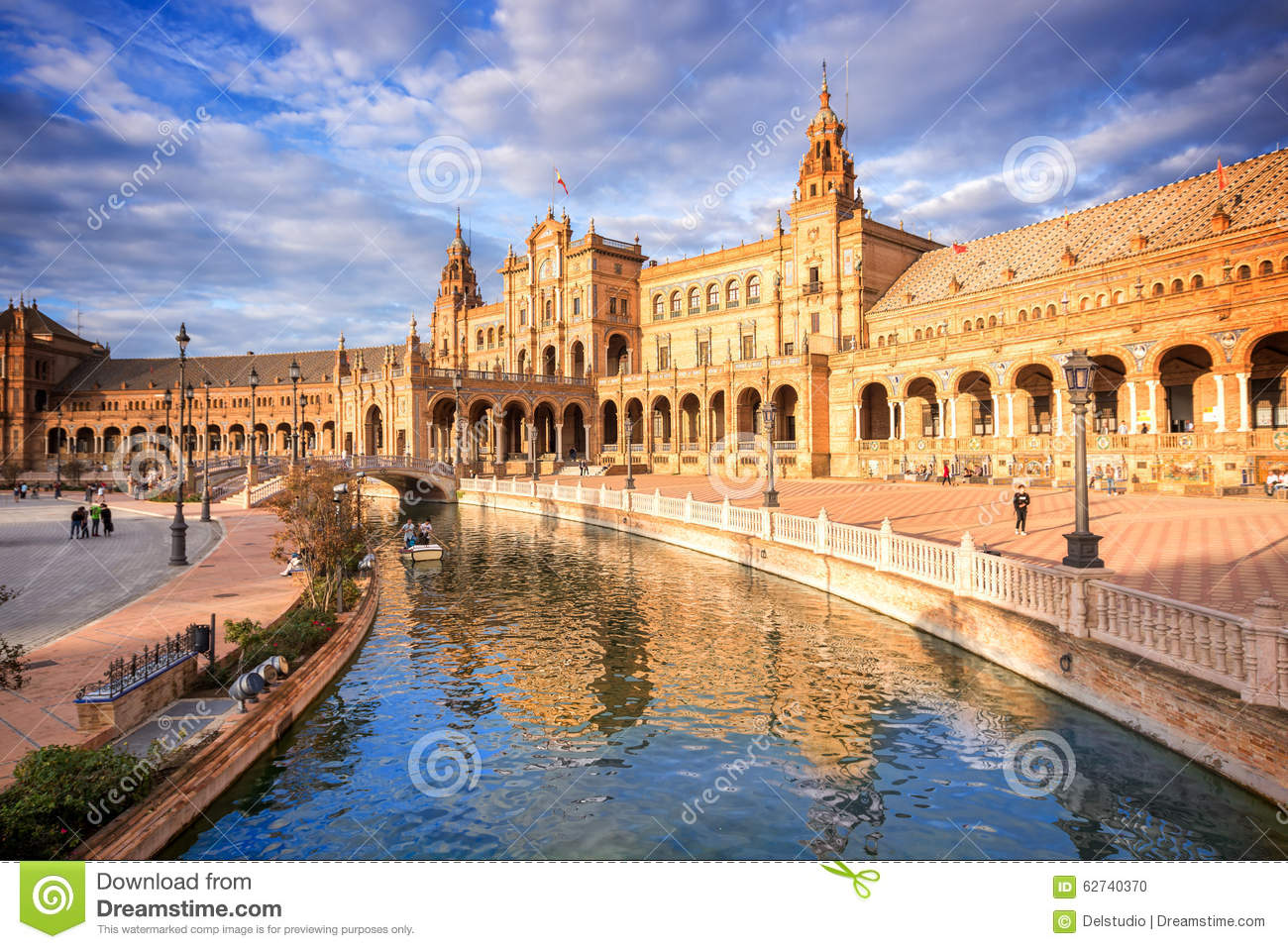 Download Plaza De Espana (Spain Square) In Seville, Spain Stock Photo - Image of andalucia, famous: 62740370