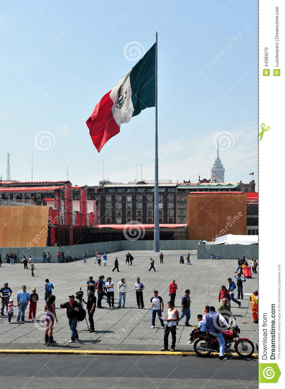 Plaza De La Constitucion In Mexico City Editorial Stock