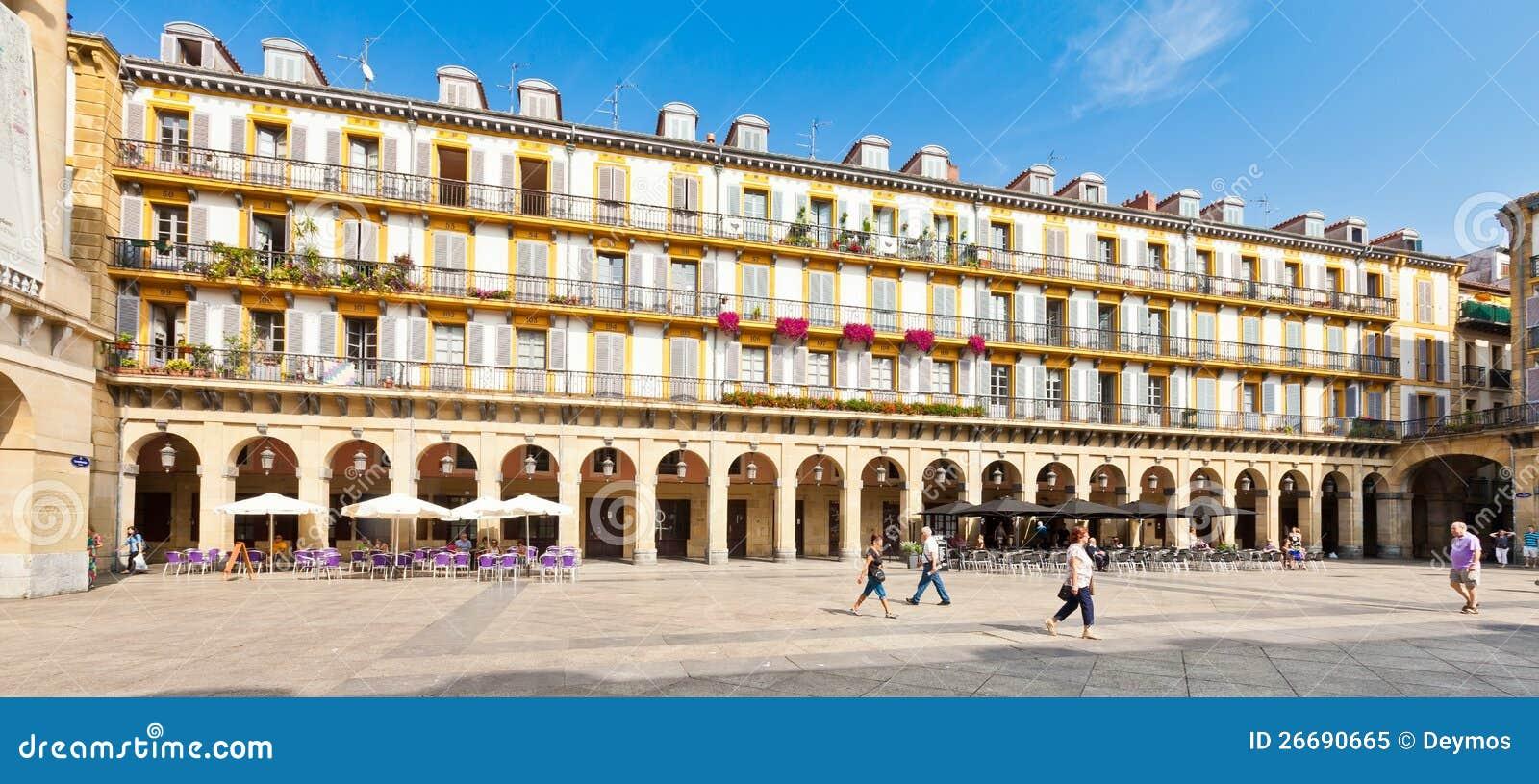 Plaza De La Constitucion In San Sebastian, Spain Editorial Image - Image: 266...