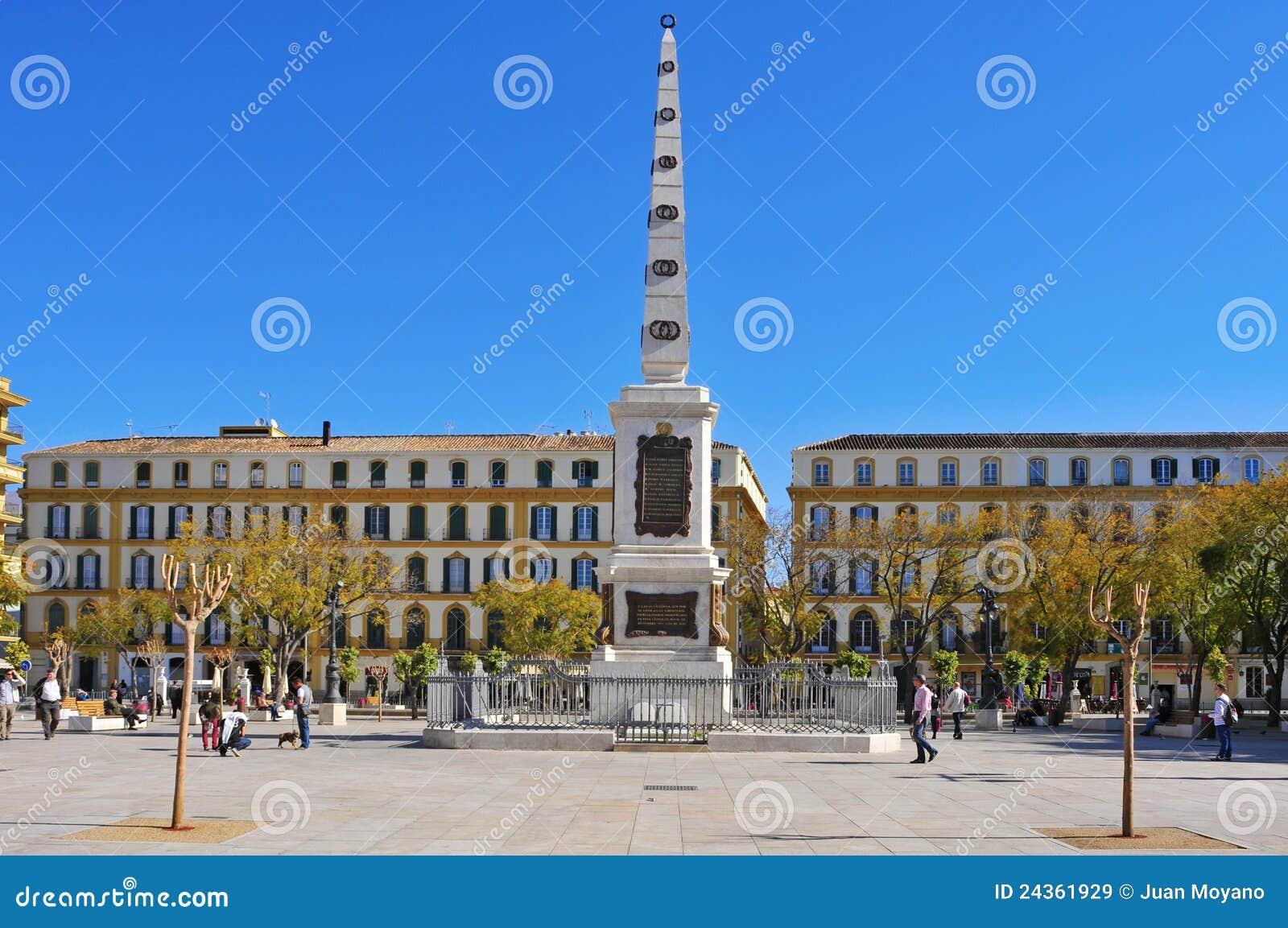Plaza De La Merced In Malaga Spain Editorial Stock Image Image Of