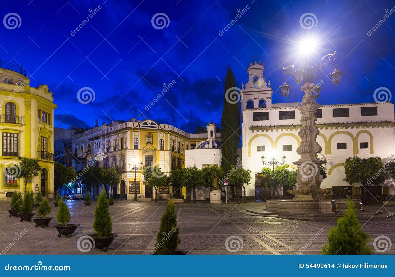 Plaza DE La Virgen DE los Reyes in Sevilla spanje