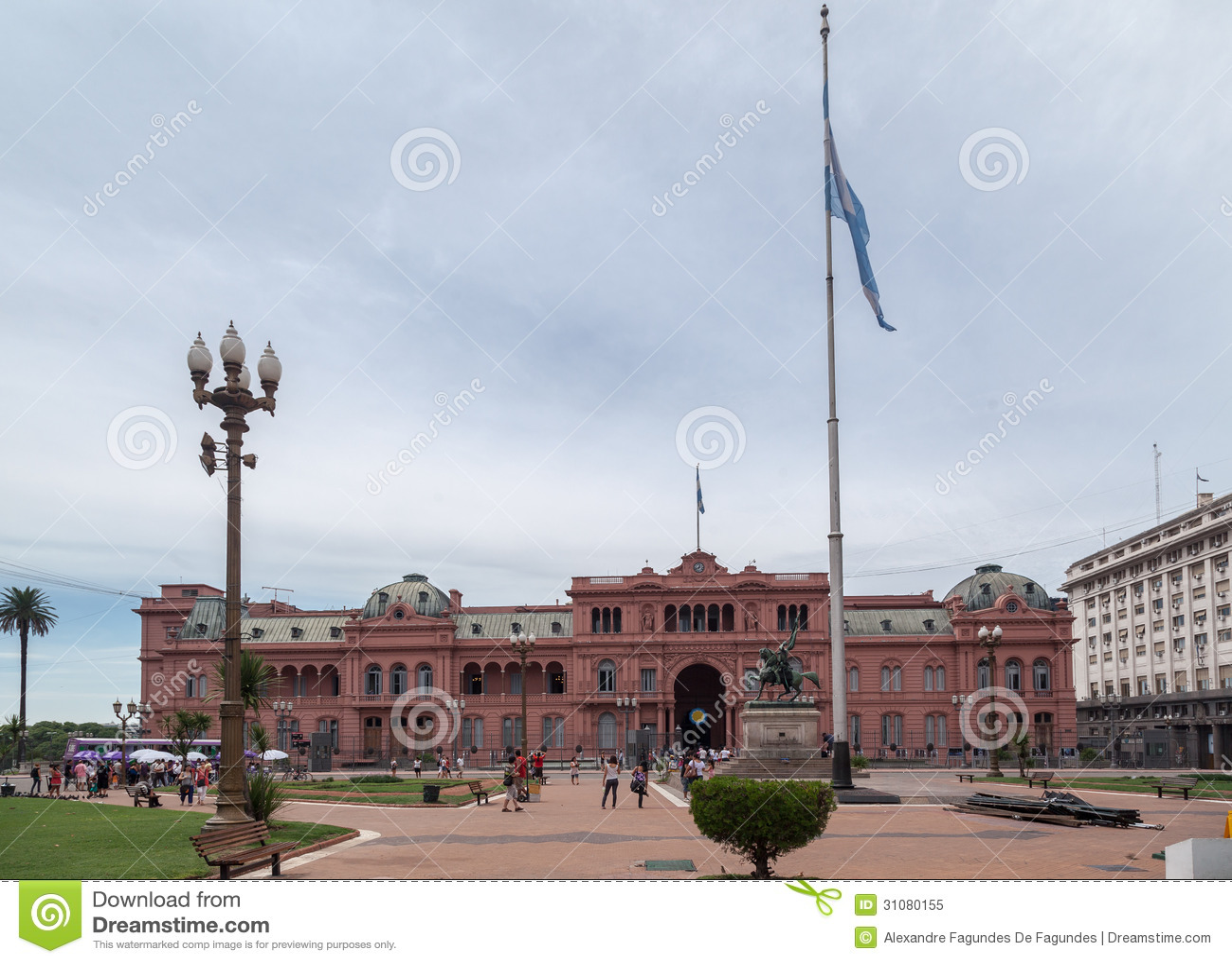 Plaza de mayo casa rosada facade argentina editorial image for Casa argentina