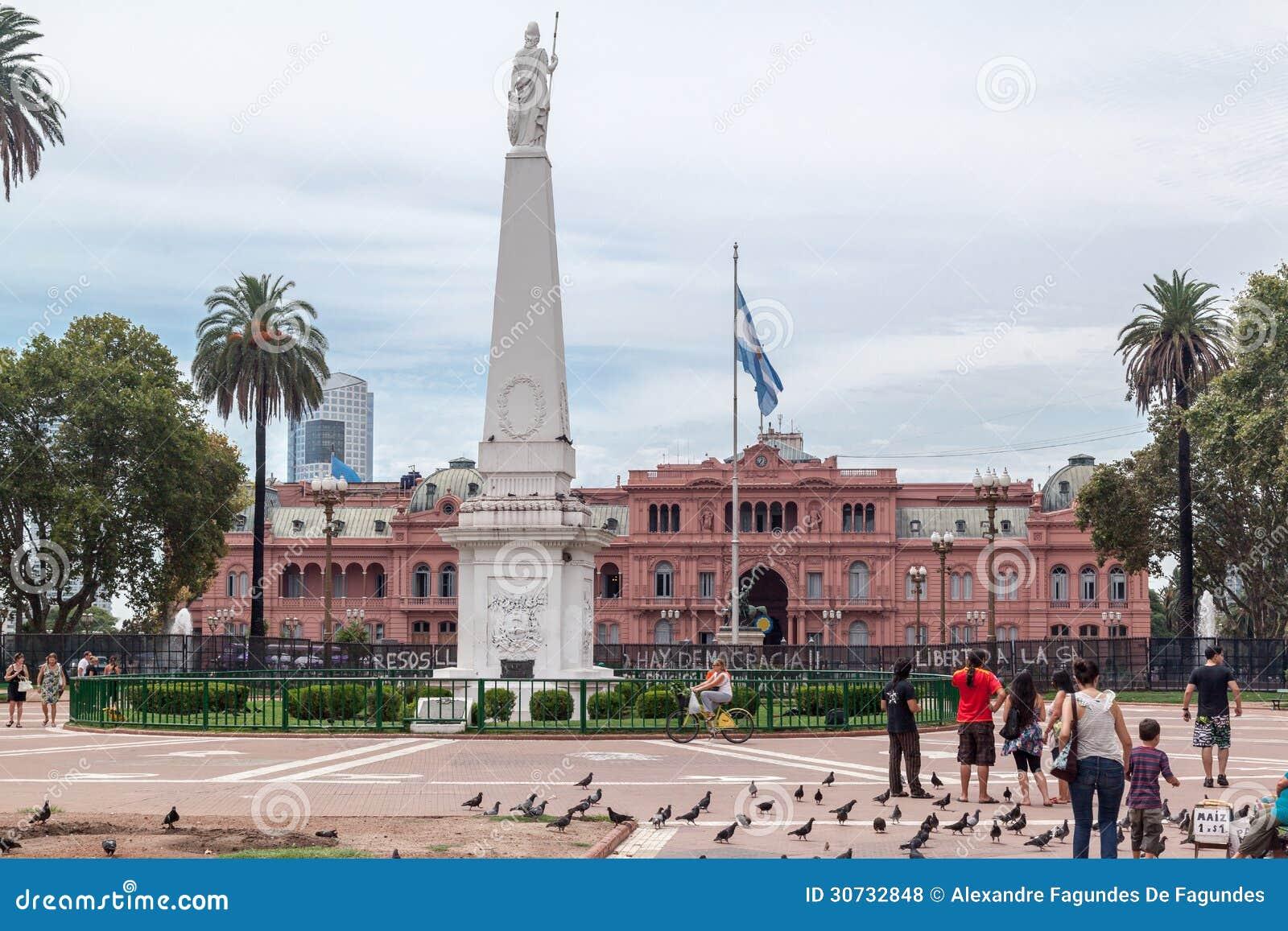 Plaza de mayo casa rosada facade argentina editorial stock for Casa argentina