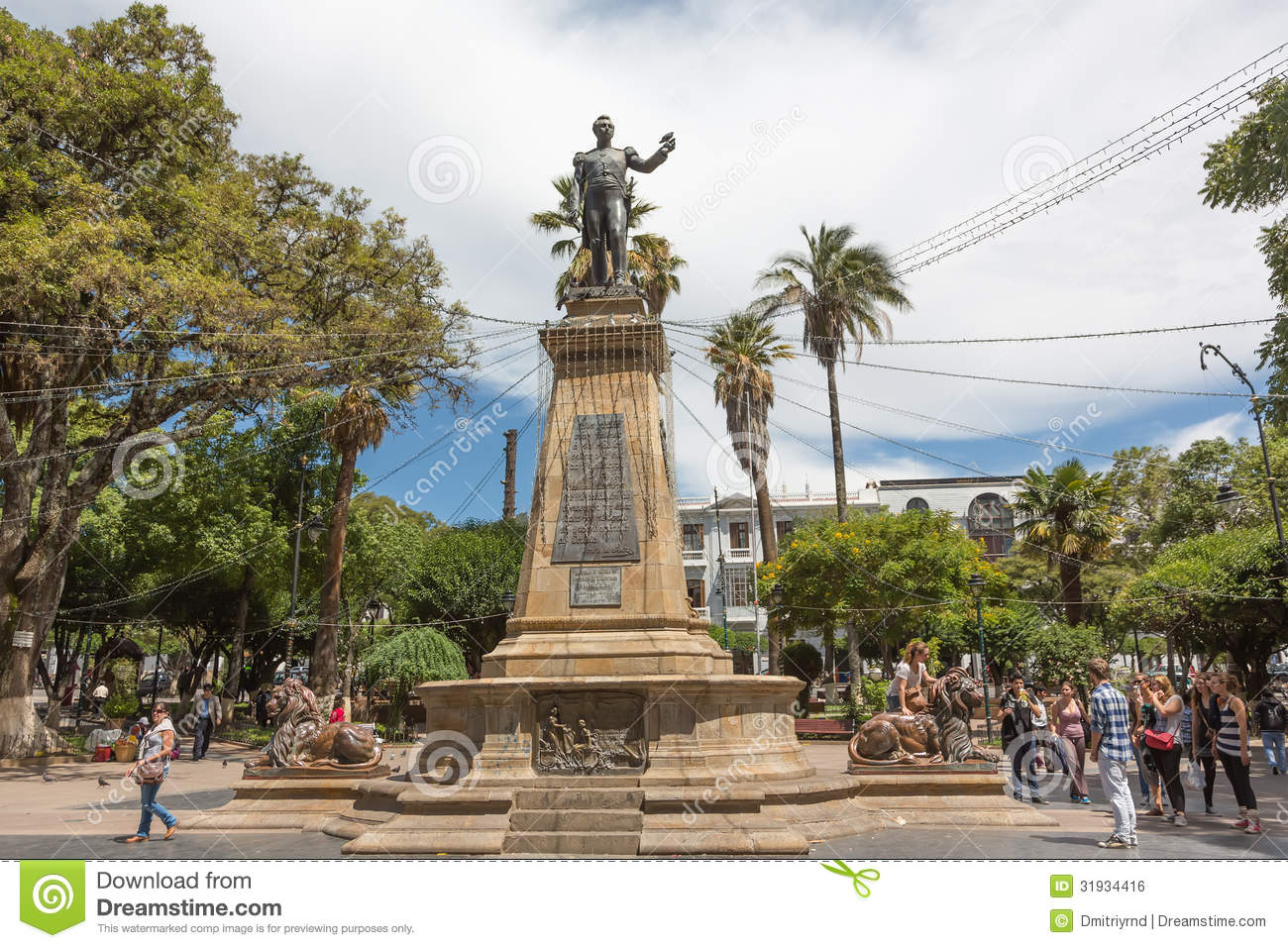 ... January 07, 2013. The monument is located on the main plaza of Sucre