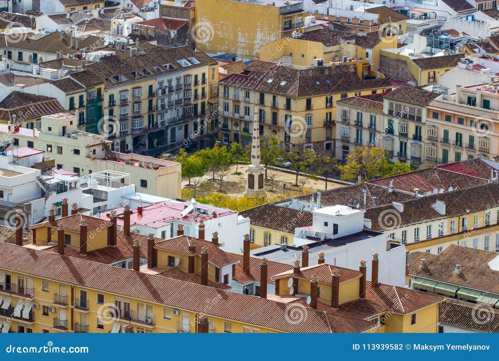 Plaza De Merced Merced Square In Malaga Andalucia Spain Vie