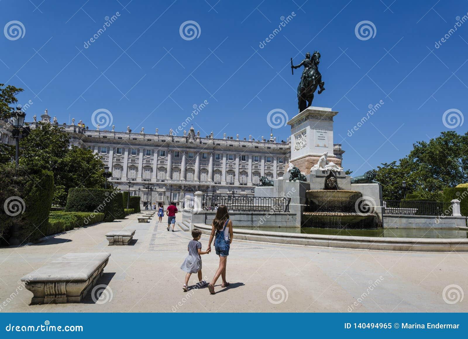 Plaza de Oriente, Madrid, España