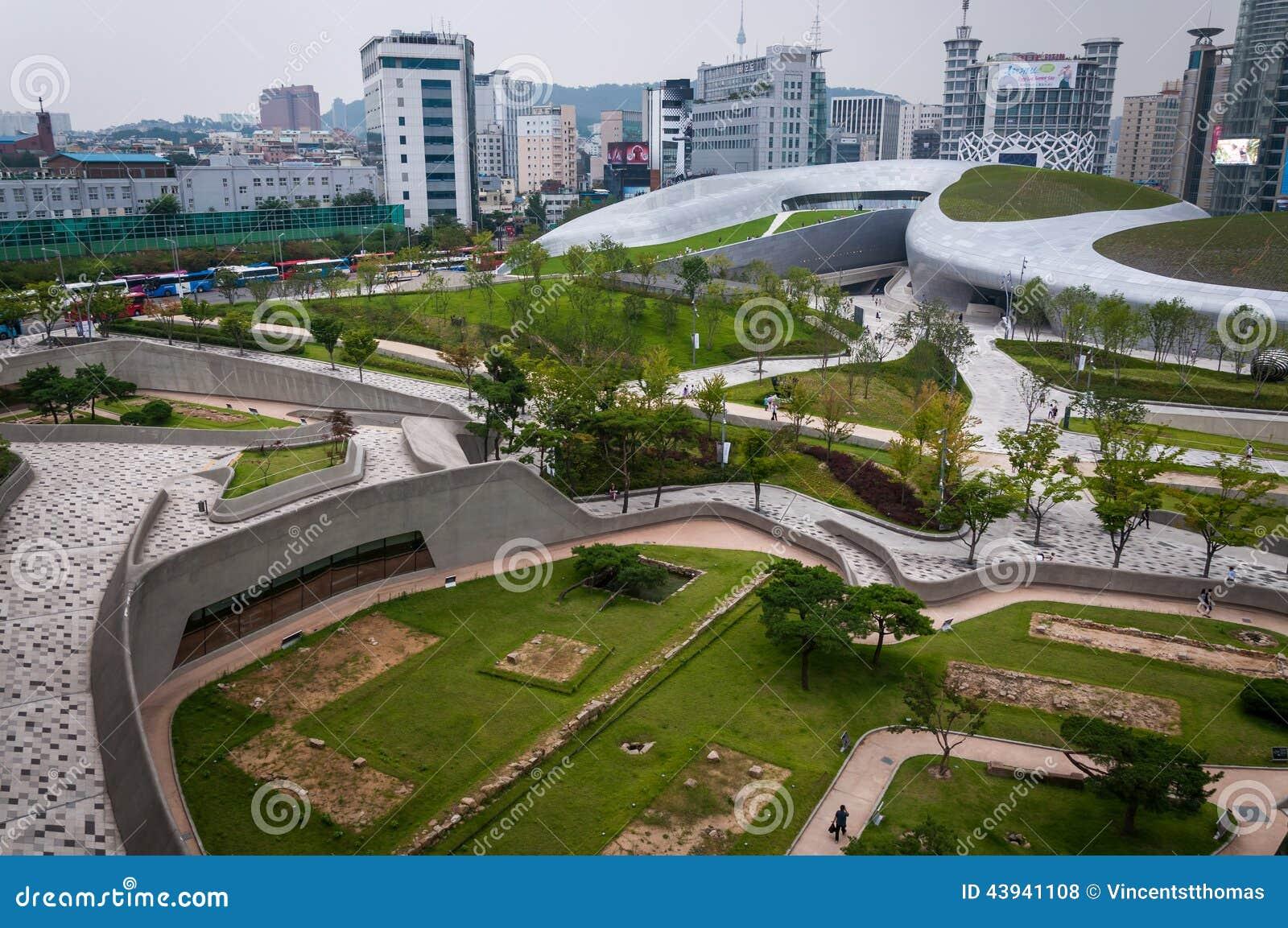 Plaza del dise o de dongdaemun foto de archivo editorial - Diseno de fotos ...
