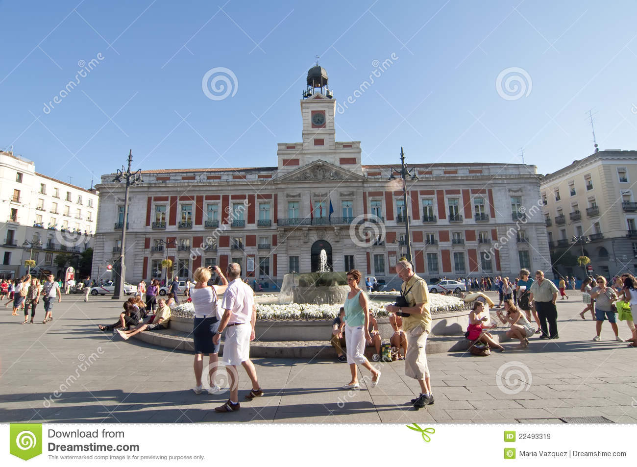 plaza del sol in madrid spain editorial stock image