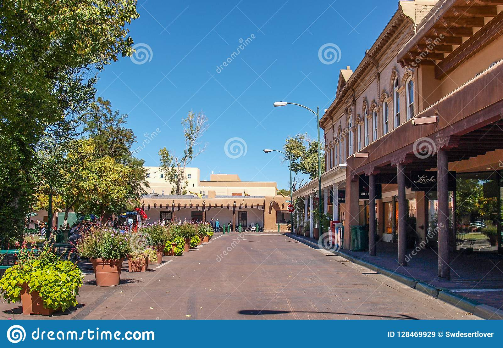 A plaza em Santa Fe, New mexico
