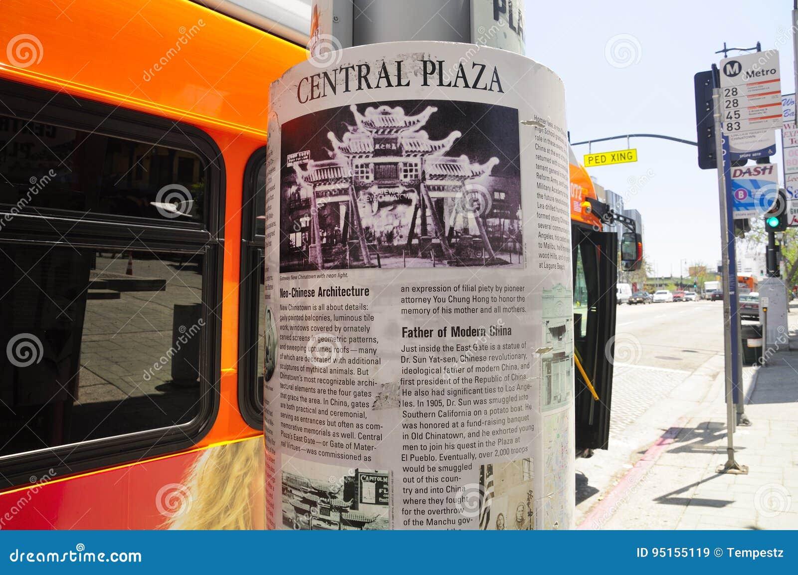 Plaza för Los Angeles Kina stadcentral