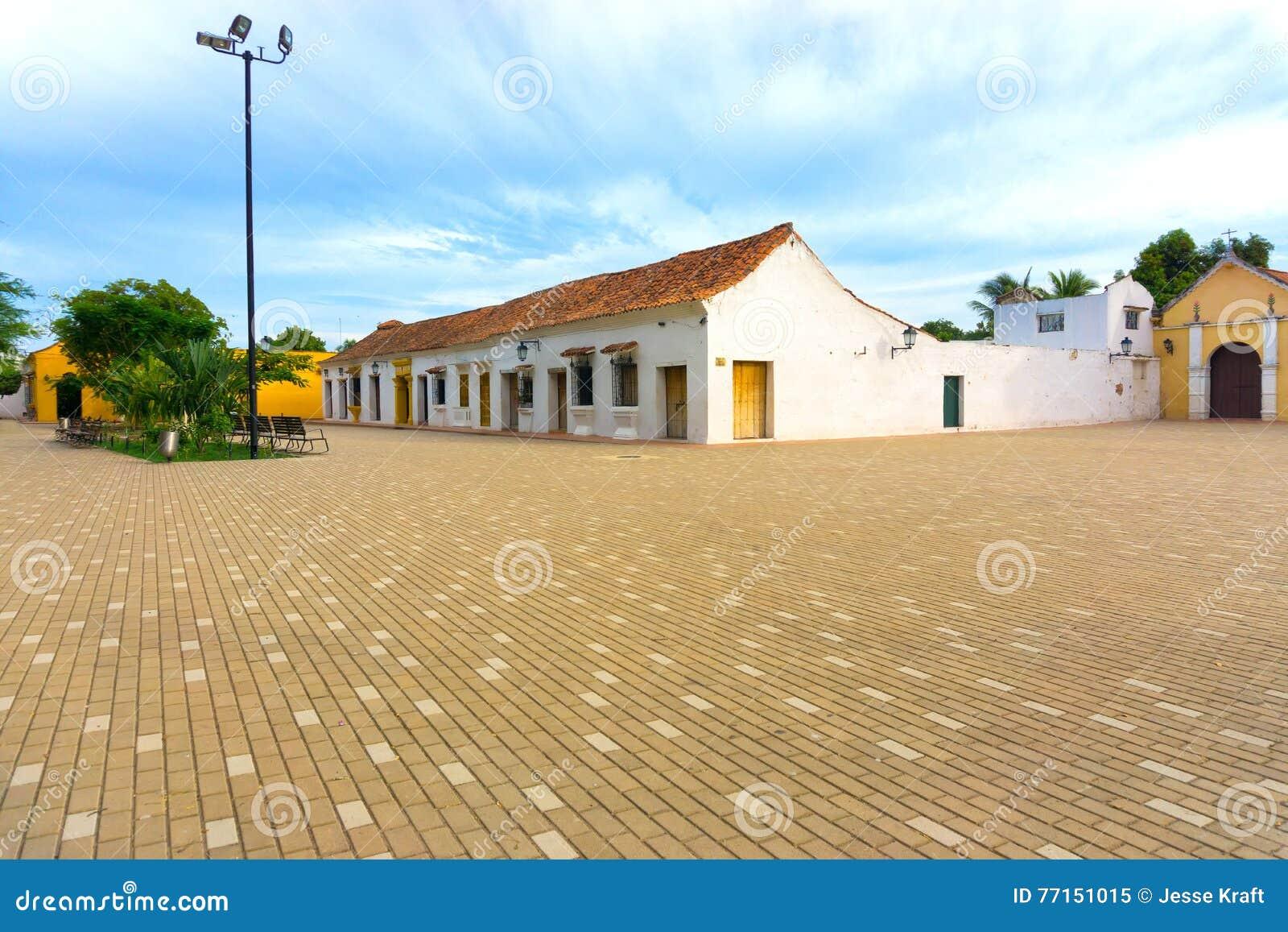Plaza idyllique dans Mompox, Colombie
