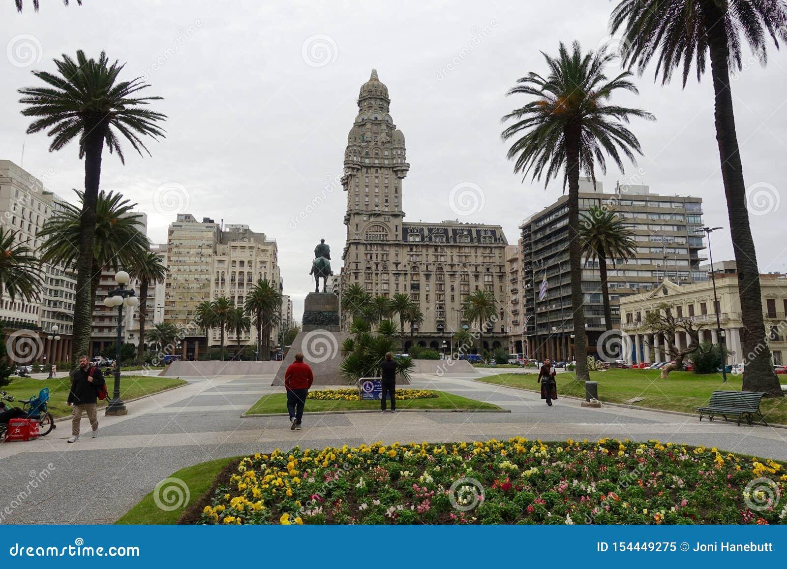 Plaza Independencia a Montevideo, Uruguay