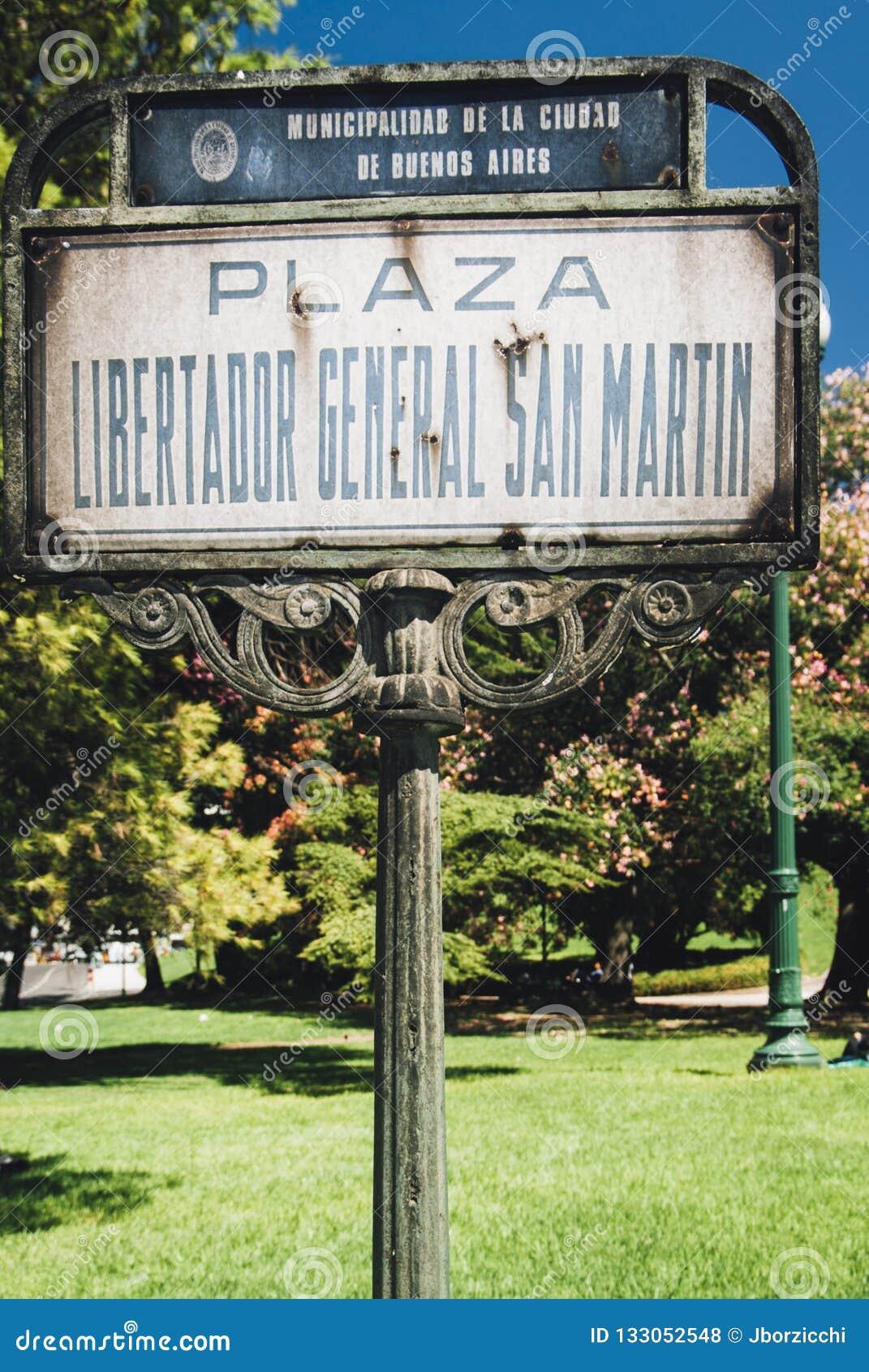 Plaza Libertador General San Martin, Buenos Aires, Argentina