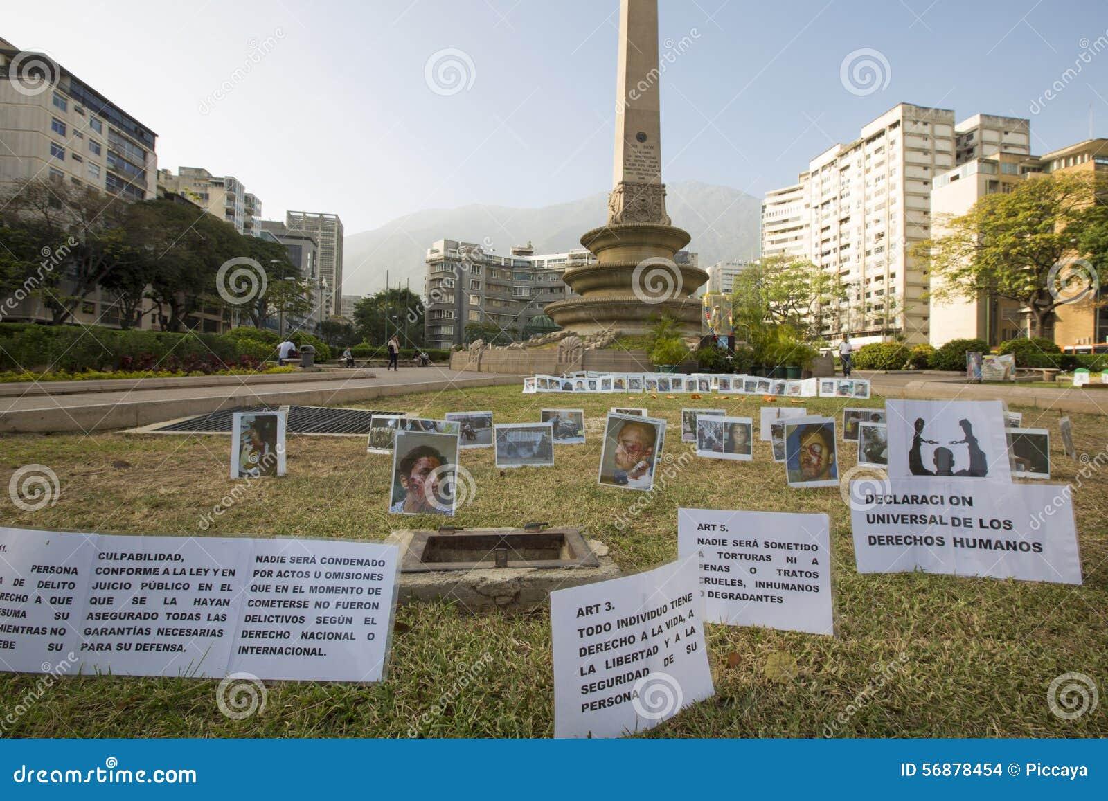 Plaza pacifica de Francia, Caracas di dimostrazione venezuela