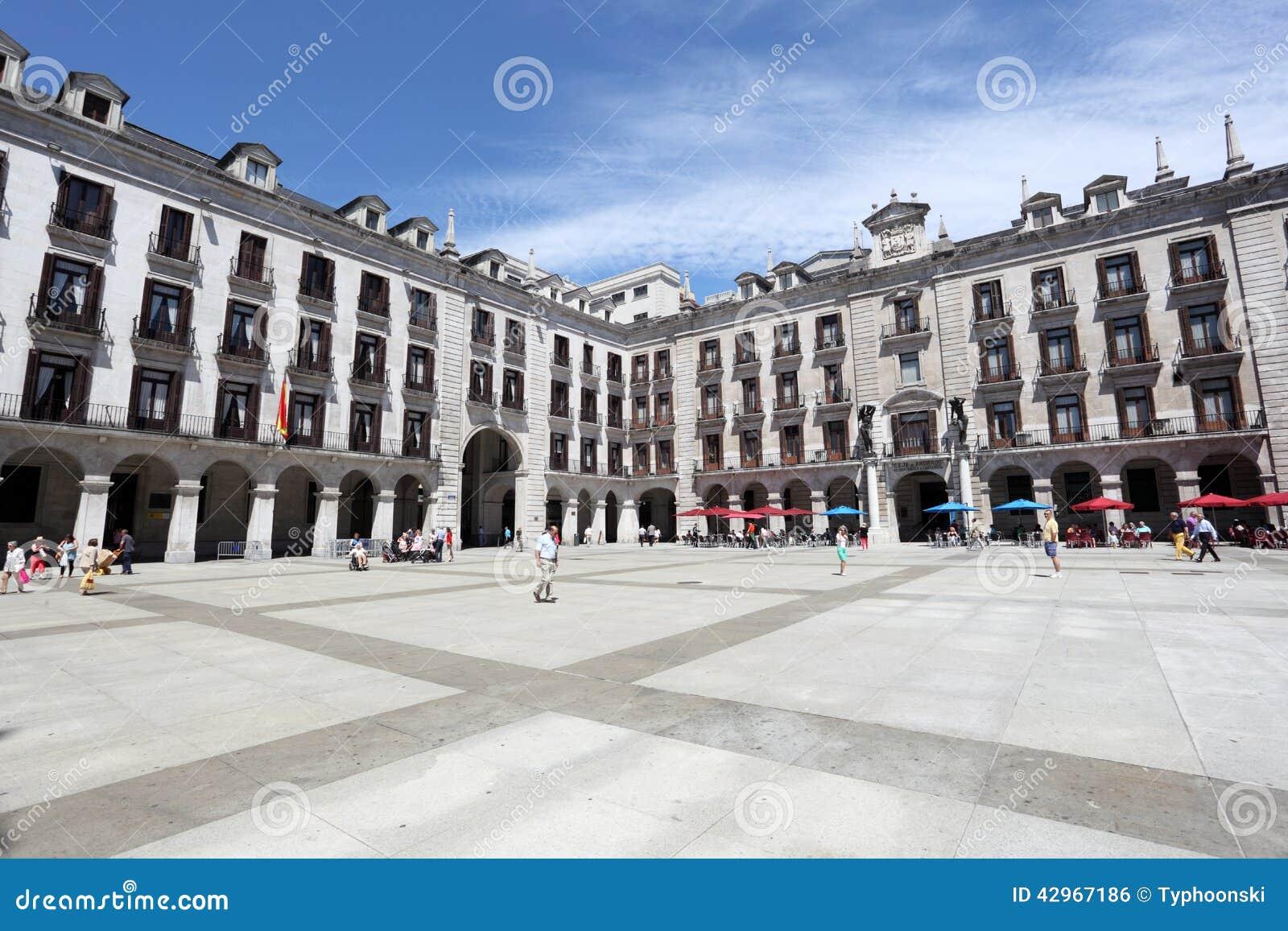 Plaza porticada in santander spain editorial photo - Be up santander ...
