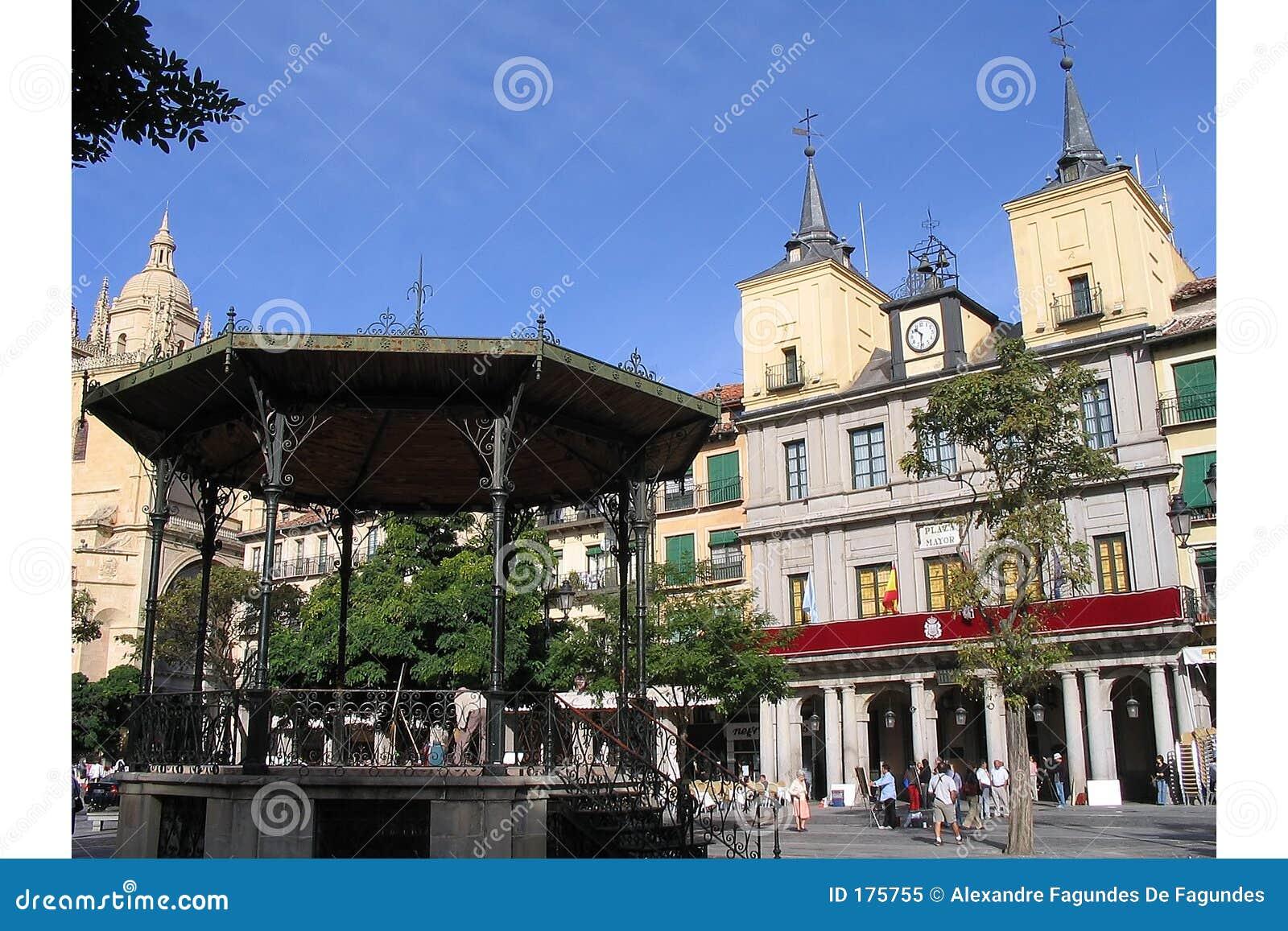 Plaza principal, Segovia, España