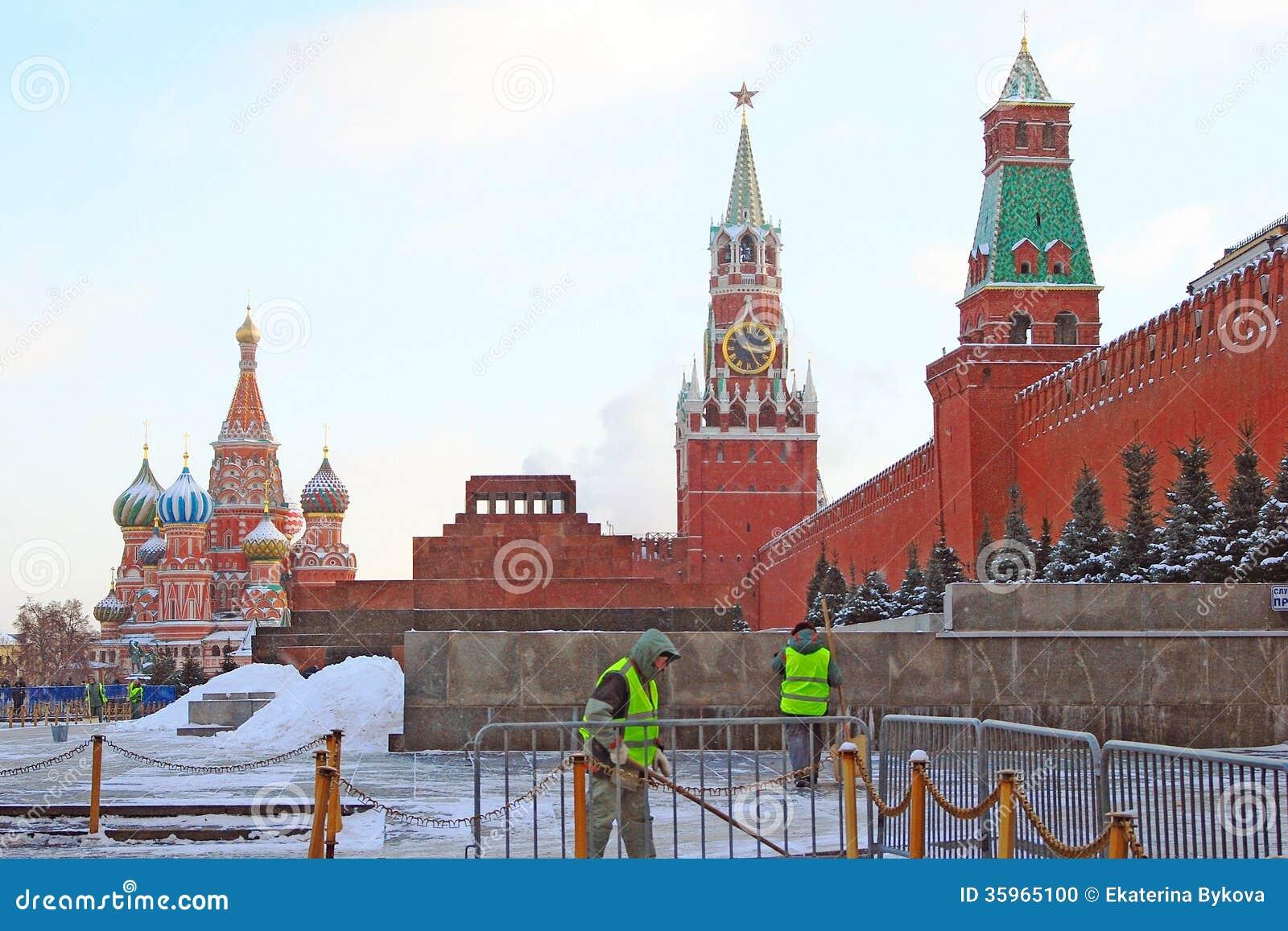 Plaza Roja en Moscú en invierno